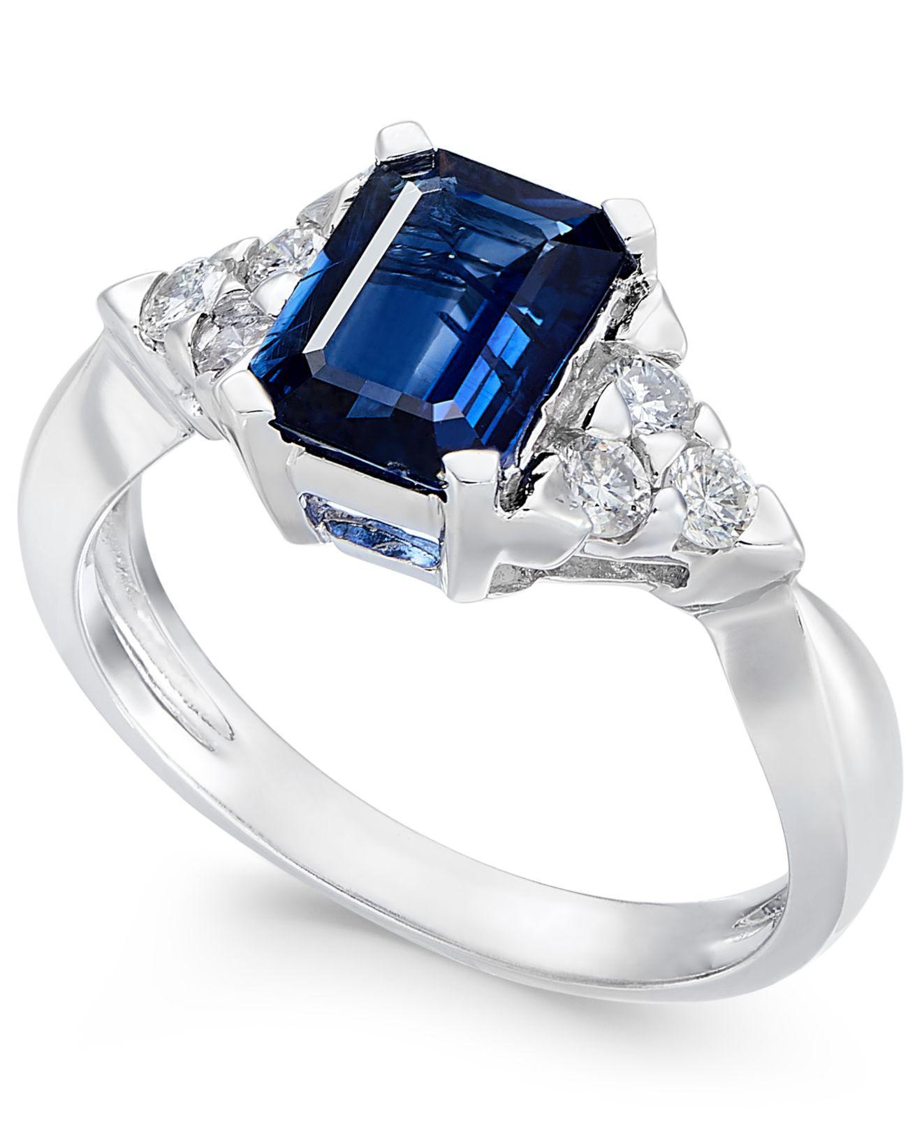 c4a5f050b Macy's Sapphire (1-3/4 Ct. T.w.) & Diamond (1/4 Ct. T.w.) Ring In ...