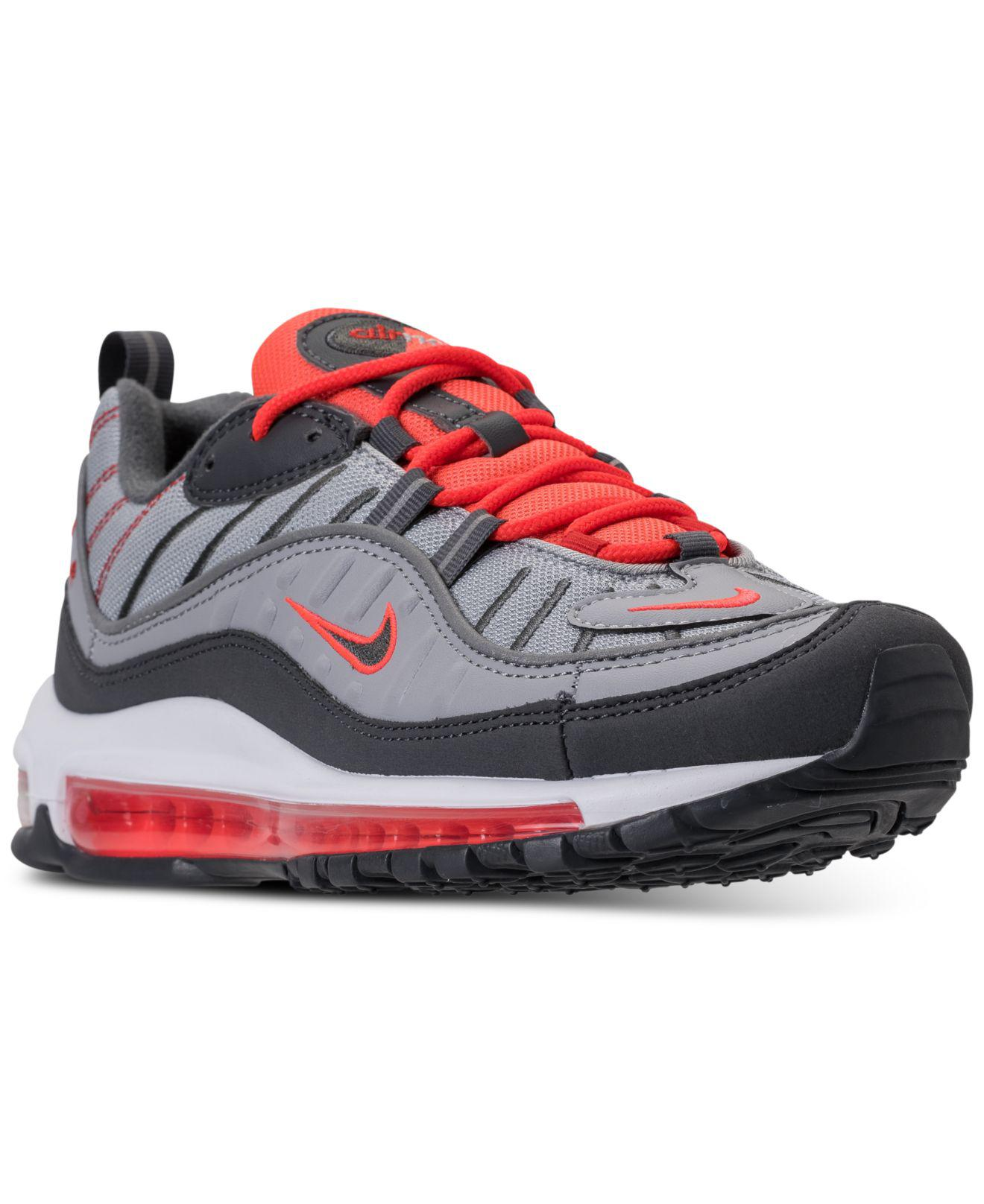 1fb68679b6a2 Lyst - Nike Air Max 98 Casual Sneakers From Finish Line in Gray for Men