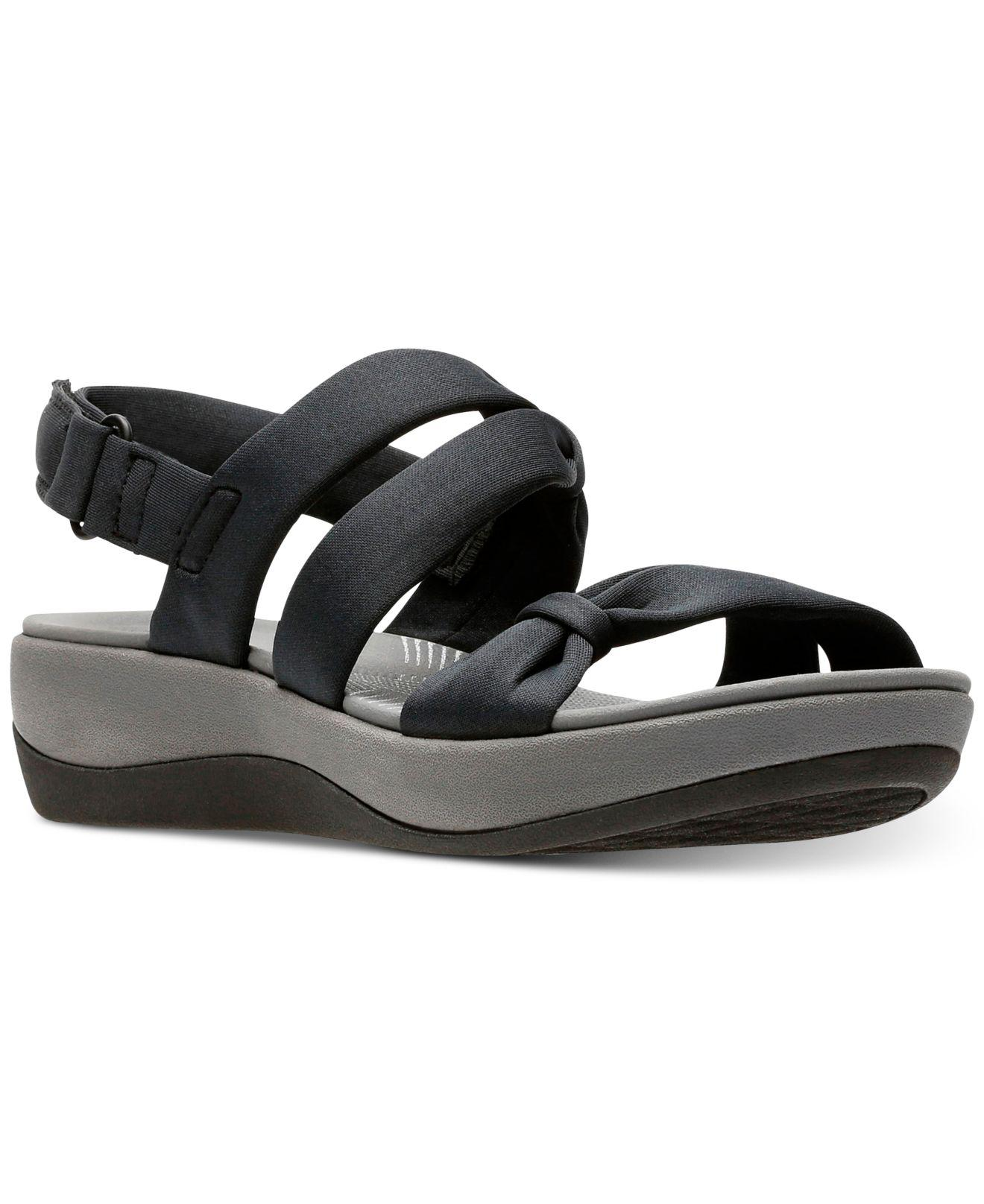 409382e33e11 Lyst - Clarks Cloudsteppers Arla Mae Wedge Sandals in Black