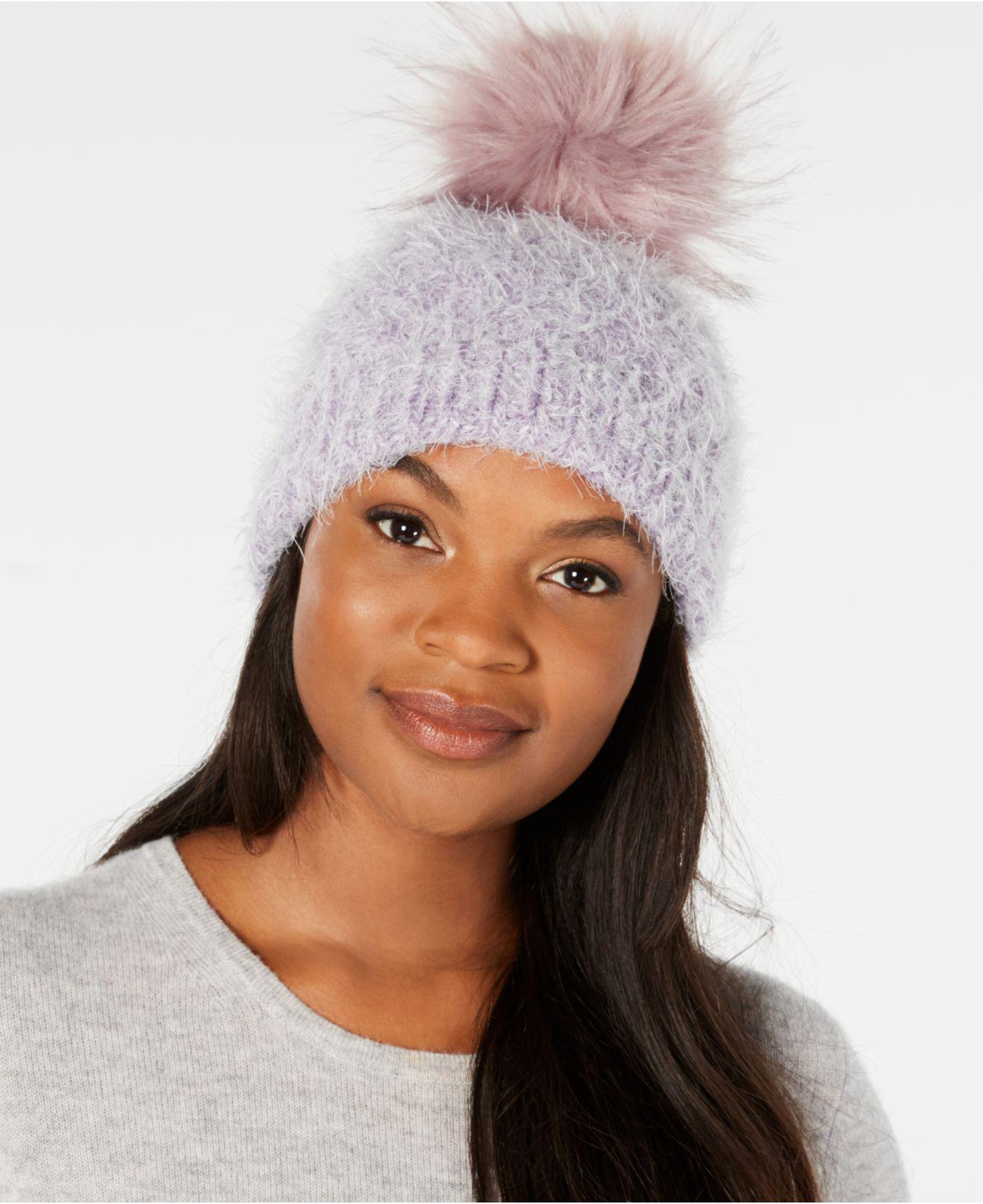 540dcd8327c Echo. Women s Fuzzy Cable-knit Pom Pom Hat