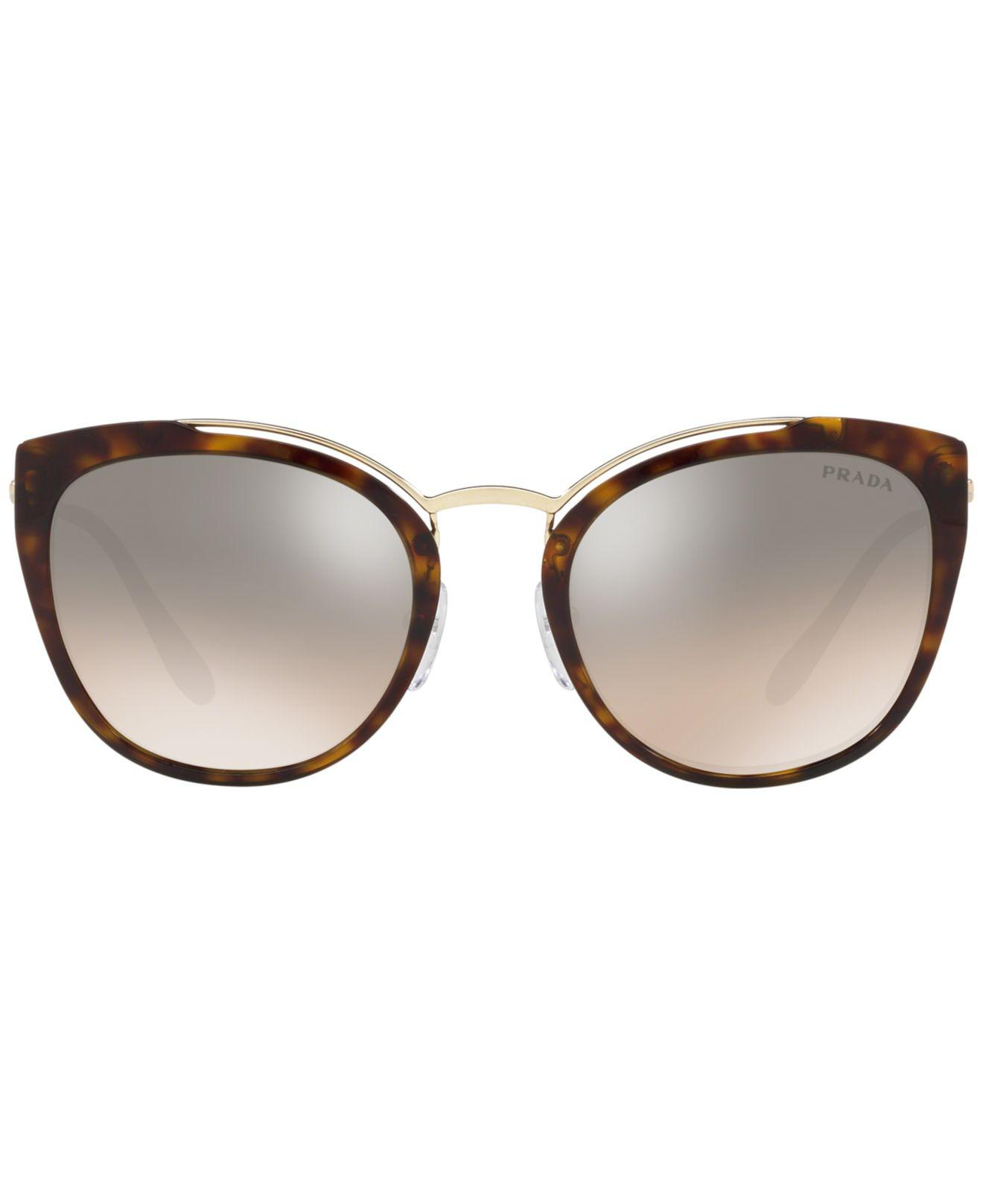698946f90772 Lyst - Prada 54mm Square Sunglasses in Brown