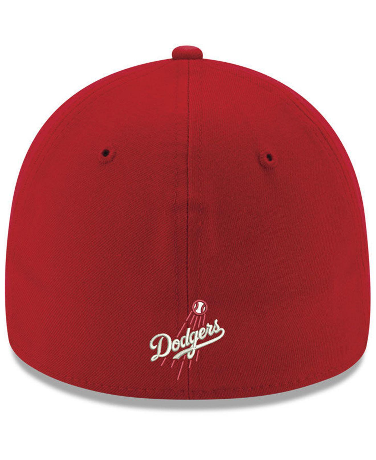 sports shoes 052ac 3c74f KTZ Los Angeles Dodgers Dub Classic 39thirty Cap in Red for Men - Lyst
