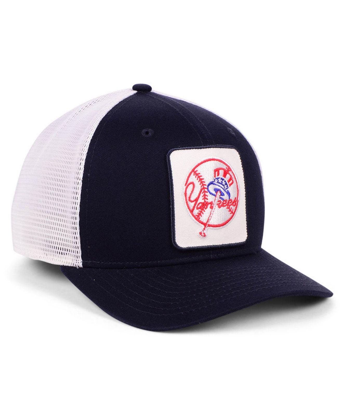 newest 06745 df328 Lyst - Nike New York Yankees Trucker Swooshflex Stretch Fitted Cap in Blue  for Men