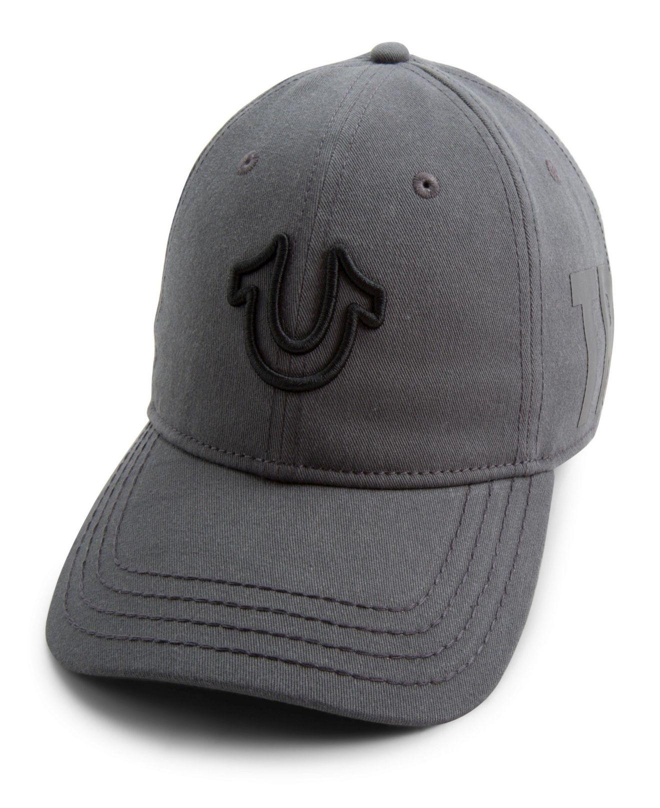 415489a2 Lyst - True Religion 3d Embroidered Horseshoe Cap in Gray