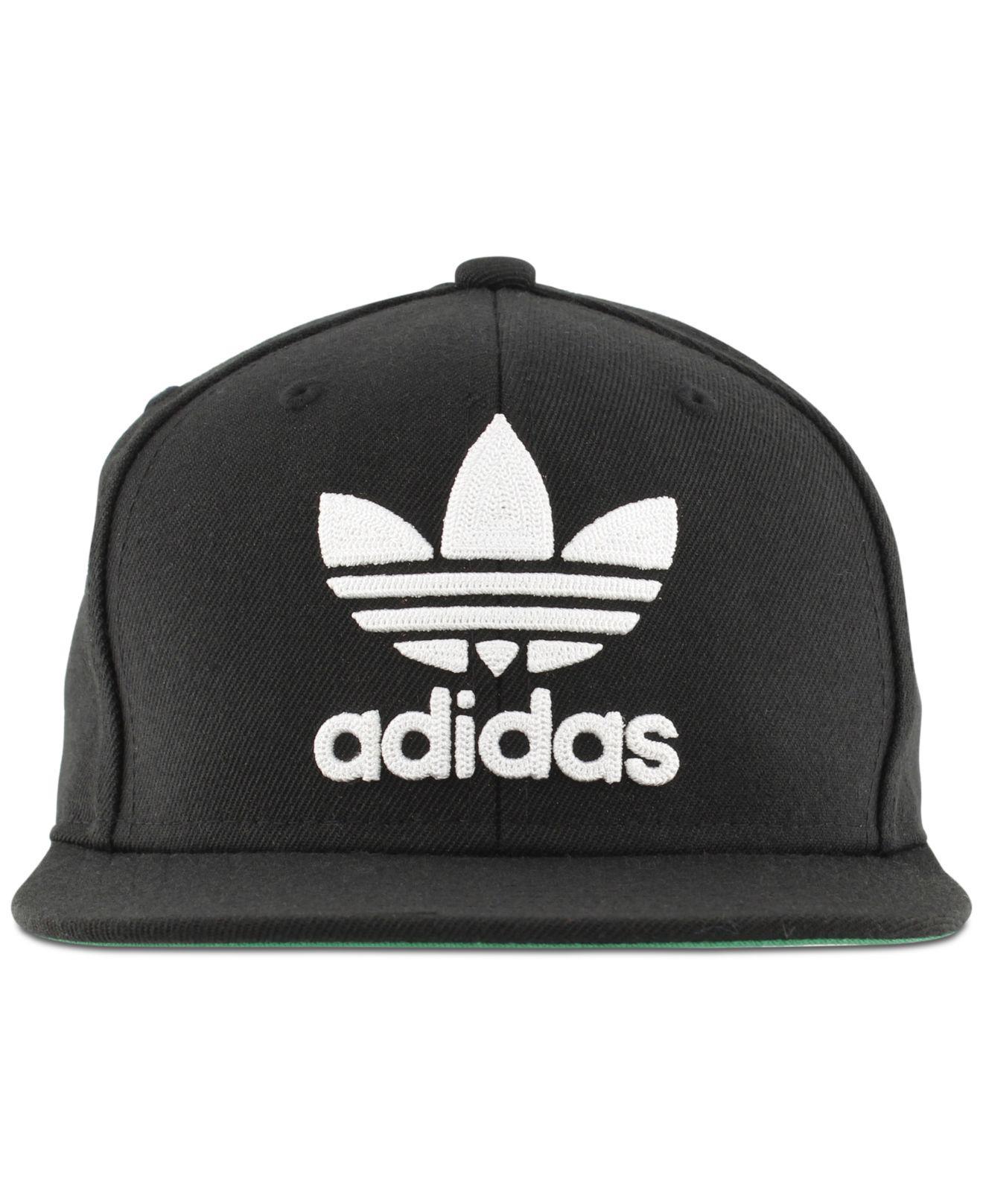 ef62b28b Adidas - Black Men's Originals Flat-brim Cap for Men - Lyst. View fullscreen