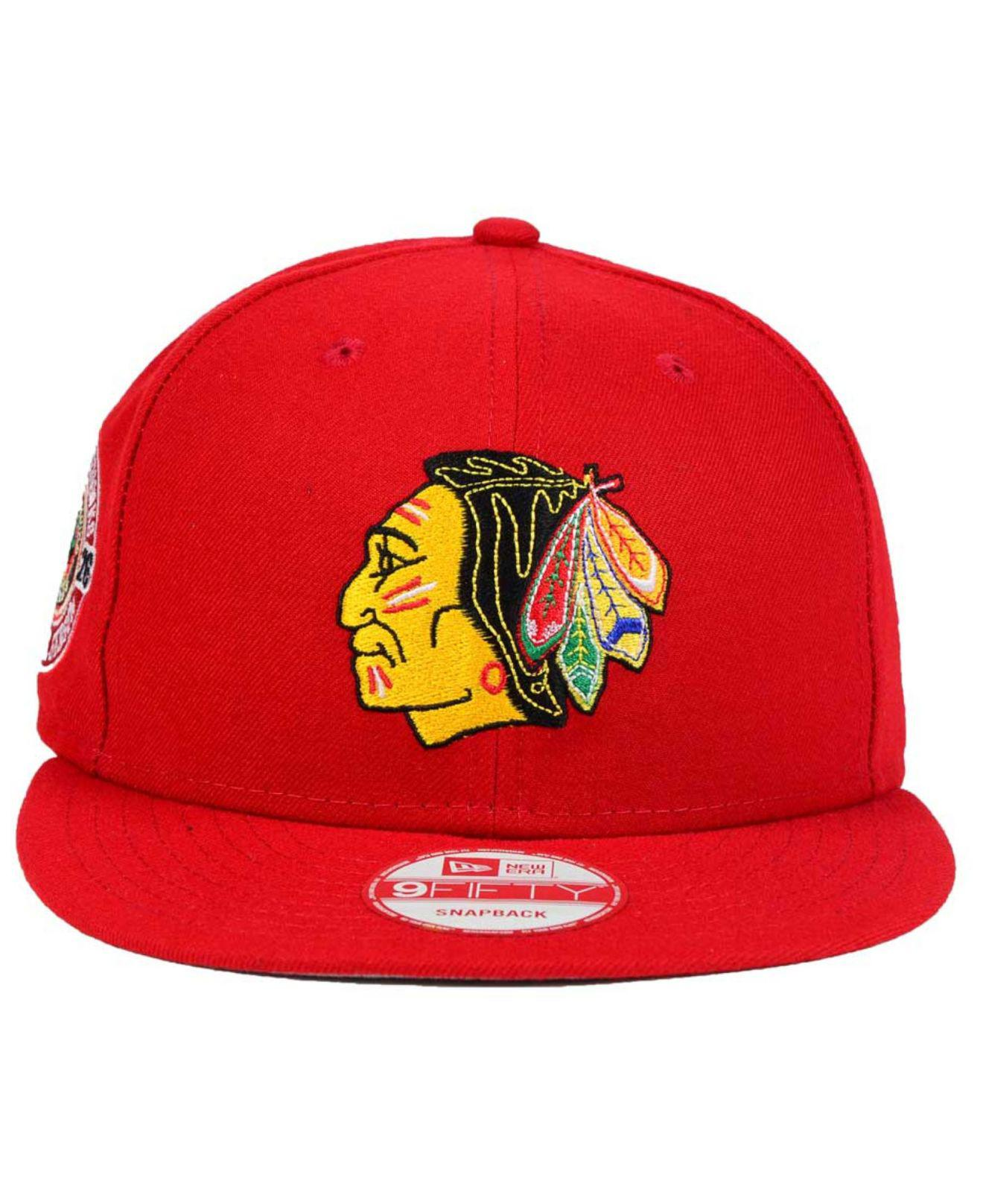Lyst - KTZ Chicago Blackhawks All Day 9fifty Snapback Cap in Red for Men 05a5fec5086c