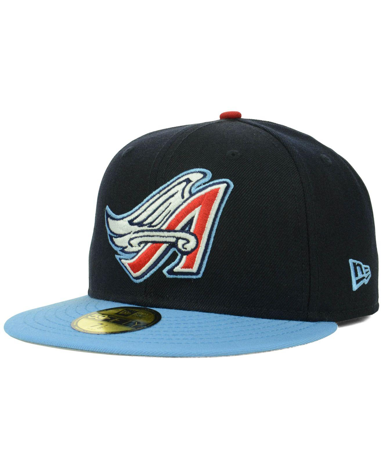 85c974807ad KTZ - Blue Los Angeles Angels Of Anaheim Cooperstown 59fifty Cap for Men -  Lyst. View fullscreen