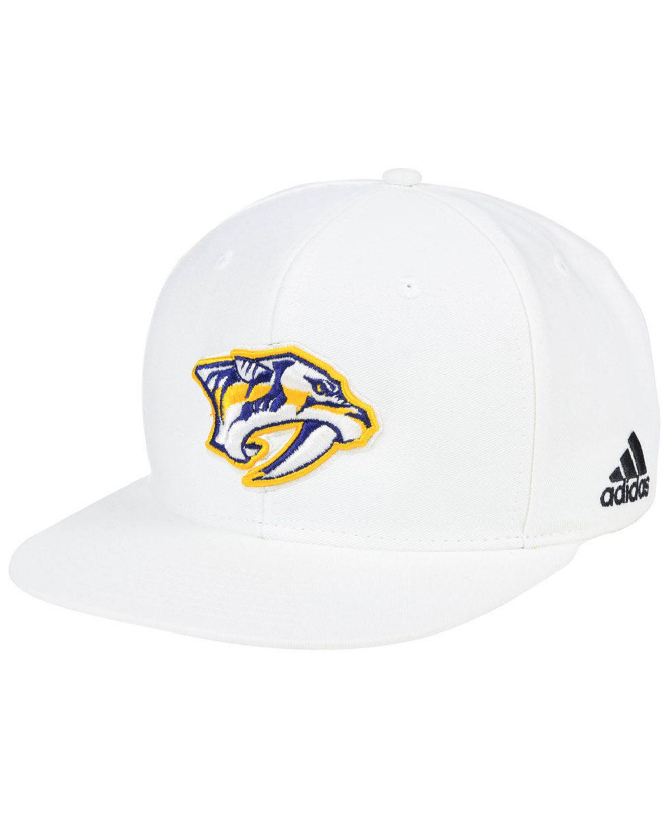 Lyst - adidas Nashville Predators Chase Snapback Cap in White for Men 00d2dd8de2e8