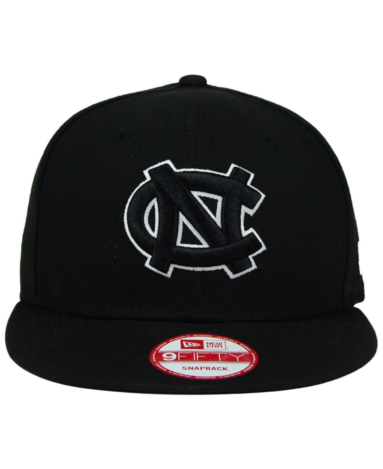 Lyst - KTZ North Carolina Tar Heels Black White 9fifty Snapback Cap in Black  for Men 7dbb92c3e