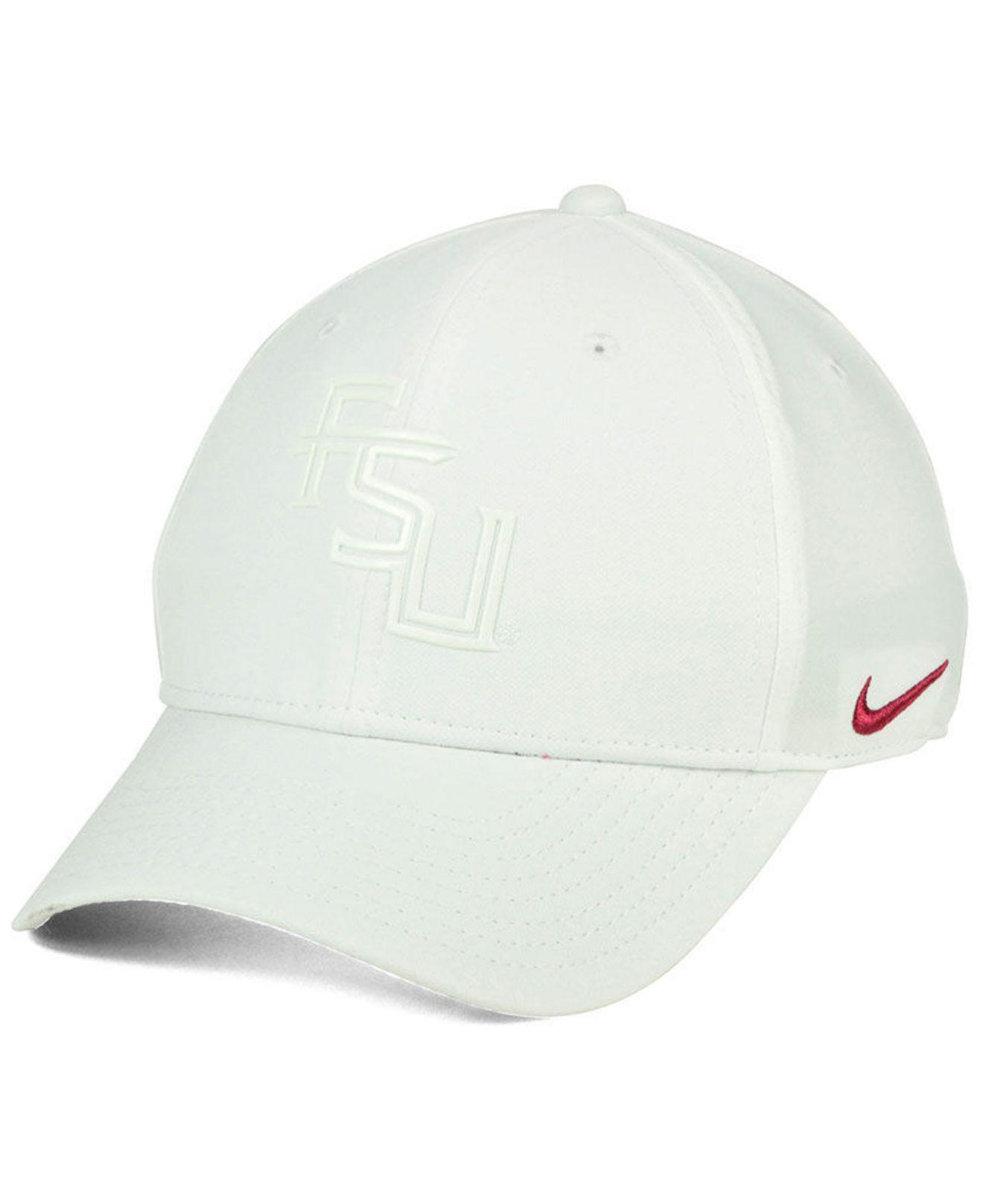 best sneakers 2d718 6b50c ... uk nike white florida state seminoles col cap for men lyst. view  fullscreen e209c 63613