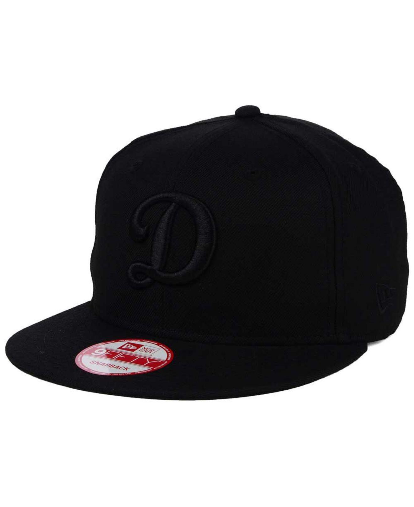 55ffd4a8b021a Lyst - KTZ Triple Black 9fifty Snapback Cap in Black for Men