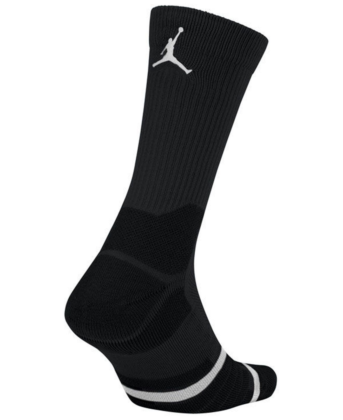 competitive price c507a a606f Nike Nba All Star Elite Quick Jordan Crew Socks in Black for Men - Lyst