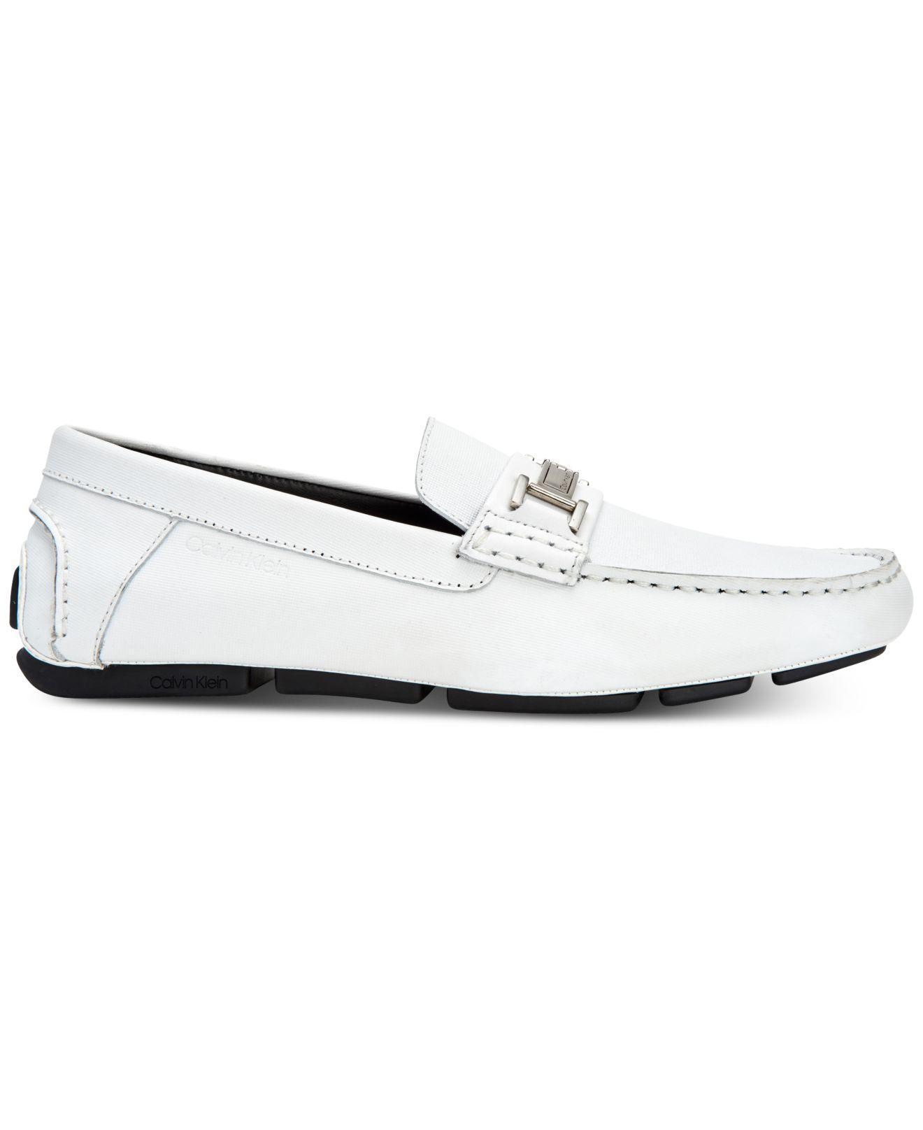 61e94646444 Lyst - Calvin Klein Magnus Loafers in White