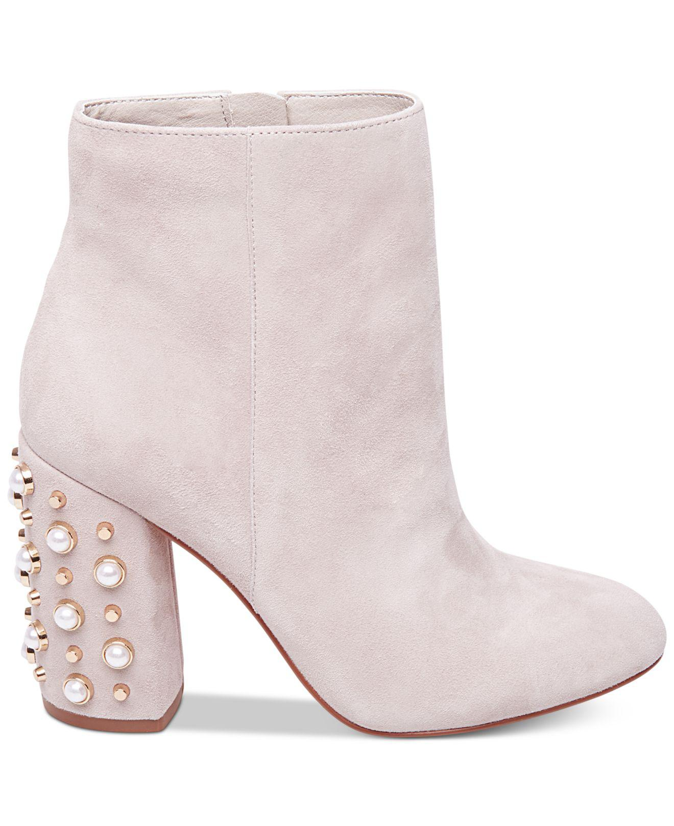 2945ddb1514 Lyst - Steve Madden Yvette Studded Booties in Pink
