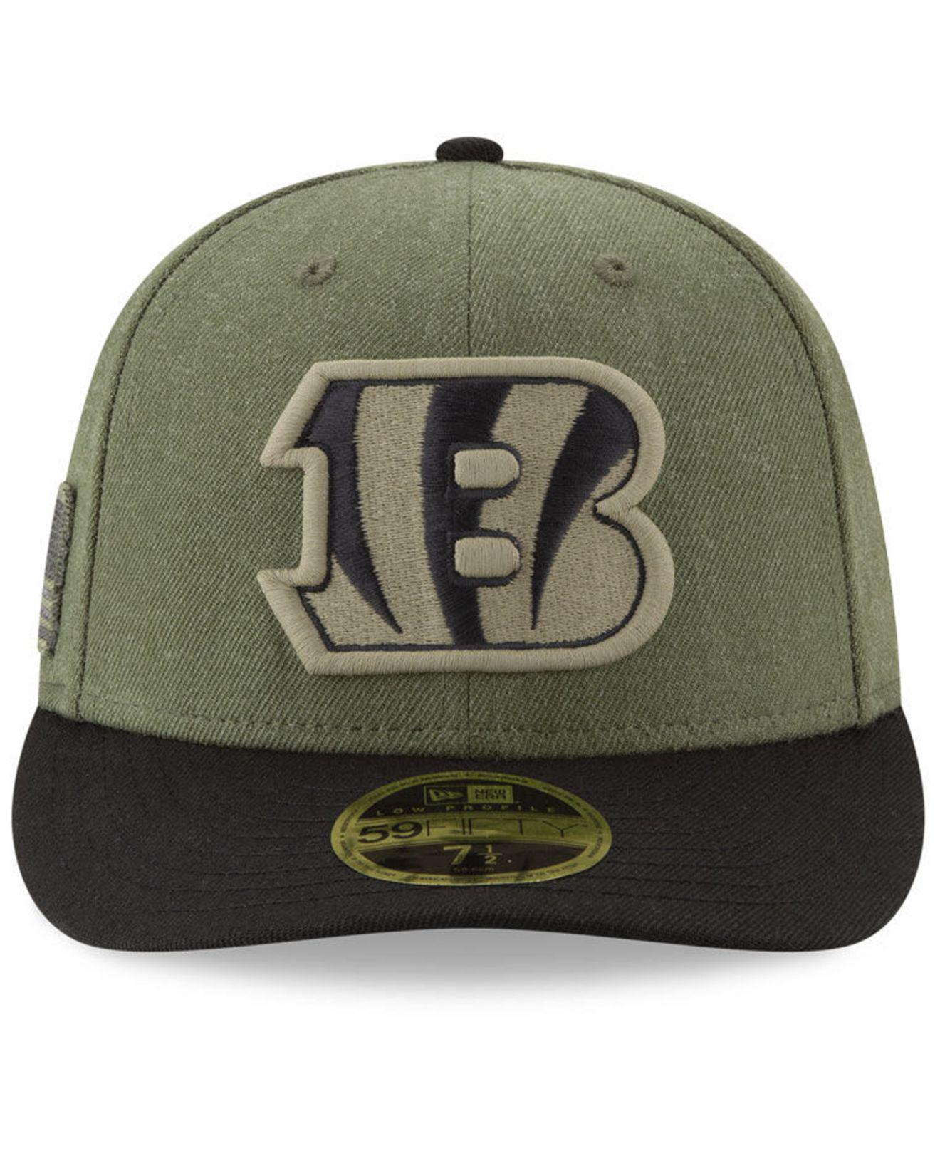 Lyst - KTZ Cincinnati Bengals Salute To Service Low Profile 59fifty Fitted  Cap 2018 in Green for Men beadff22b
