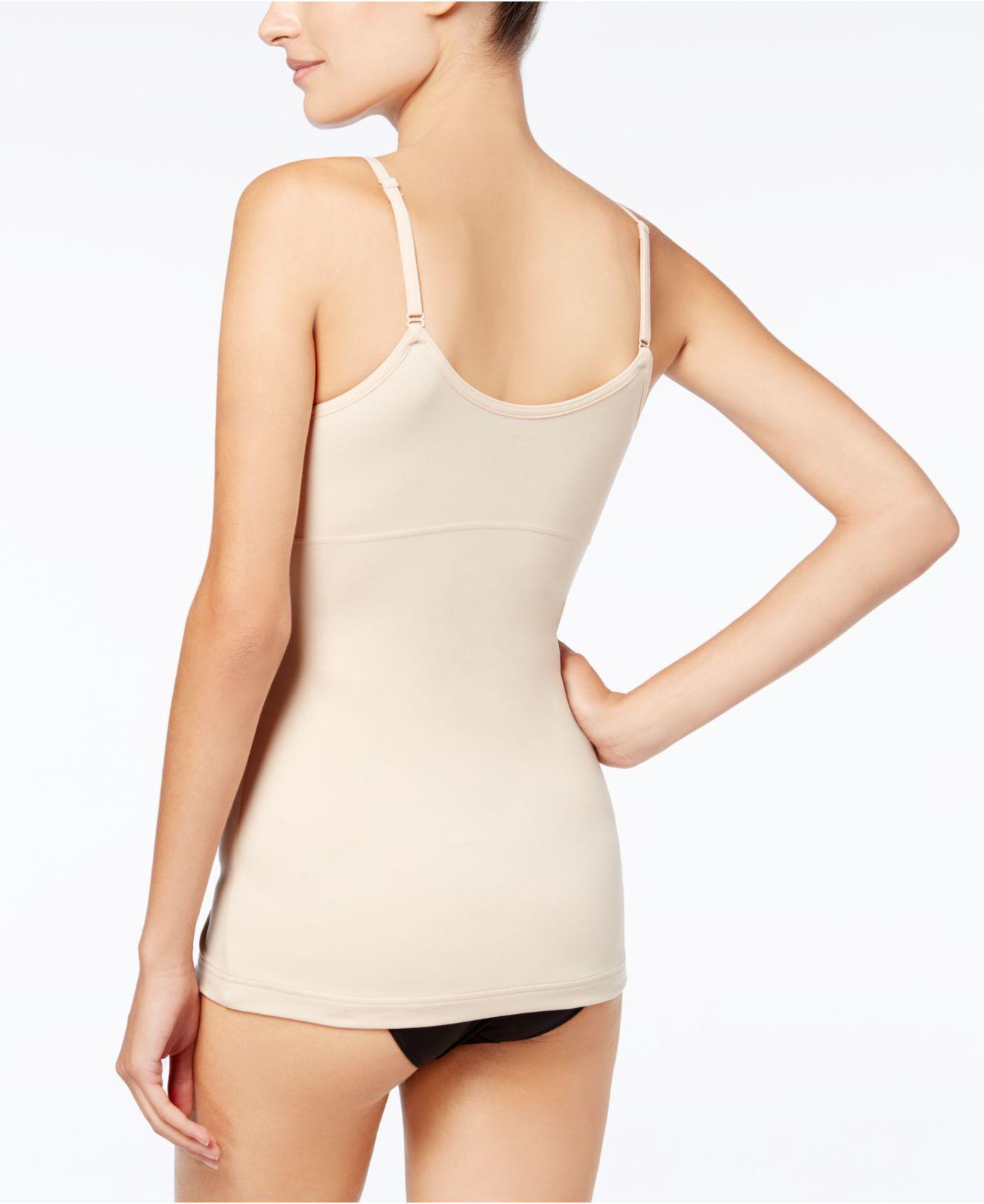 24fd2004b3 Lyst - Maidenform Firm Control Fat Free Long Length Tank 3266 in Natural