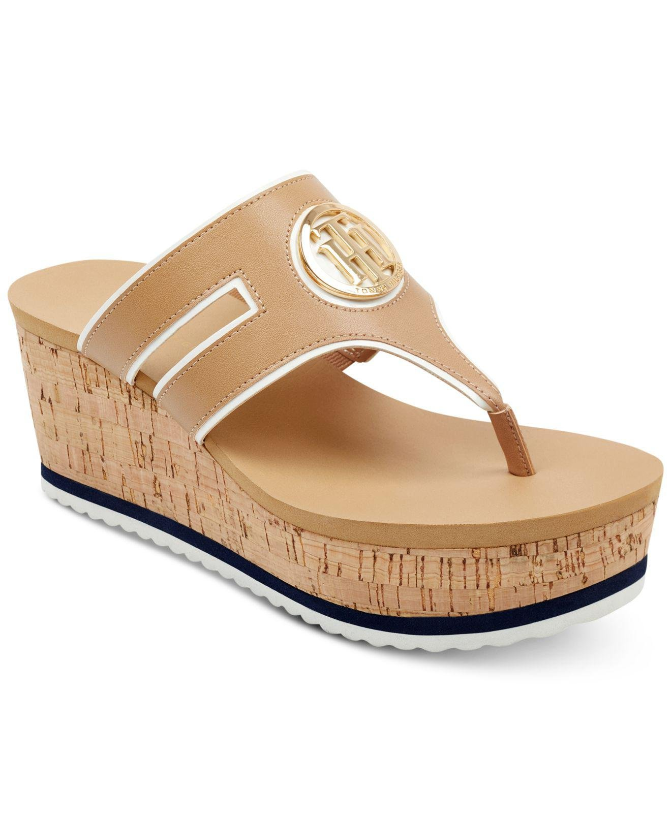 Tommy Hilfiger Galley Wedge Thong Sandal 4htuQpn
