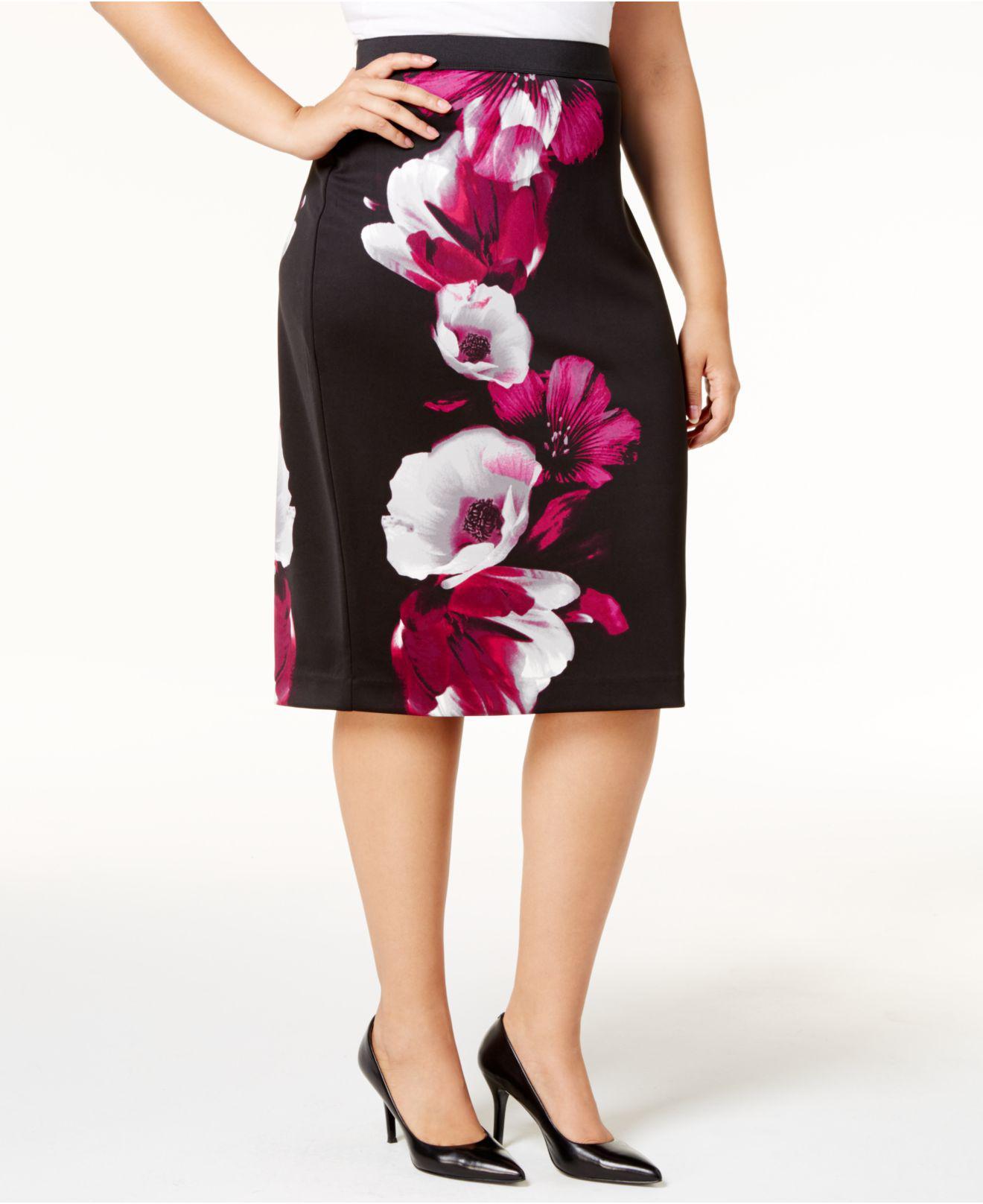 c1113ba993 Lyst - Alfani Plus Size Printed Pencil Skirt