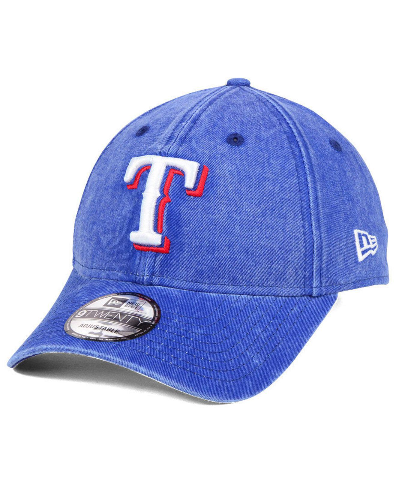 Lyst - Ktz Texas Rangers Italian Washed 9twenty Cap in Blue for Men 993abdac0ac8