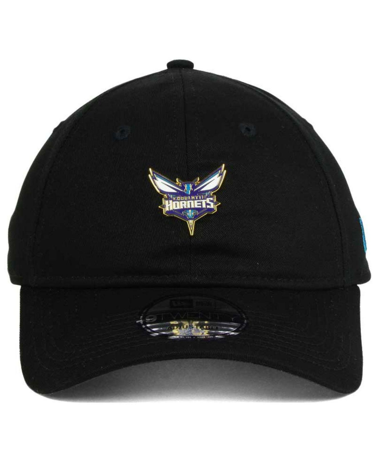 new concept e7c03 488ae Lyst - KTZ Charlotte Hornets Pintasic 9twenty Cap in Black for Men
