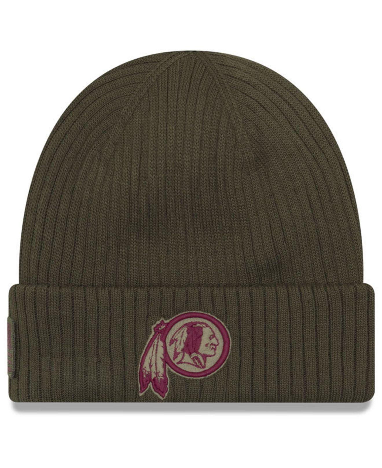 1821335631e Lyst - Ktz Washington Redskins Salute To Service Cuff Knit Hat in ...
