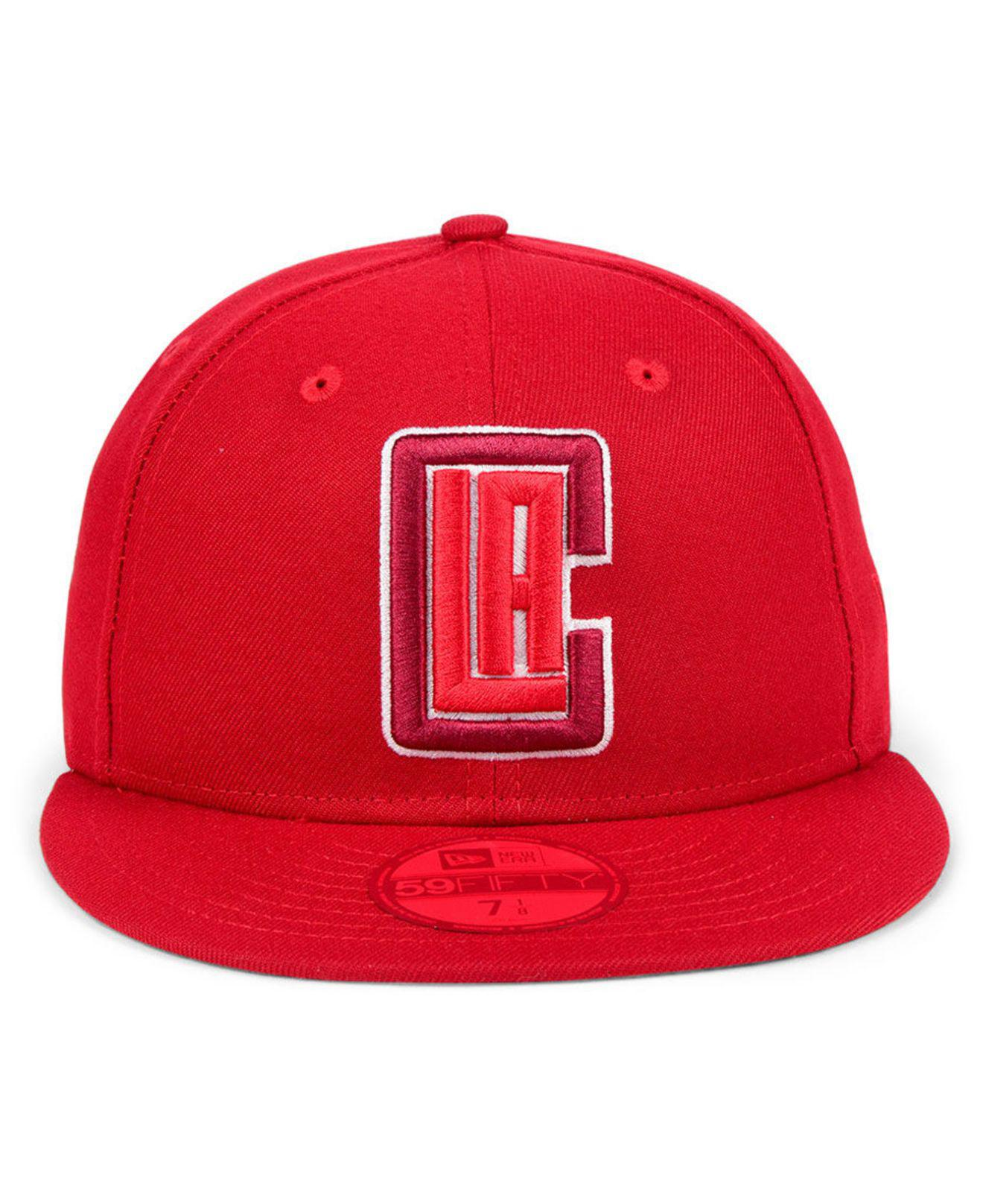 f16ec507 Lyst - KTZ Los Angeles Clippers Color Prism Pack 59fifty Fitted Cap in Red  for Men