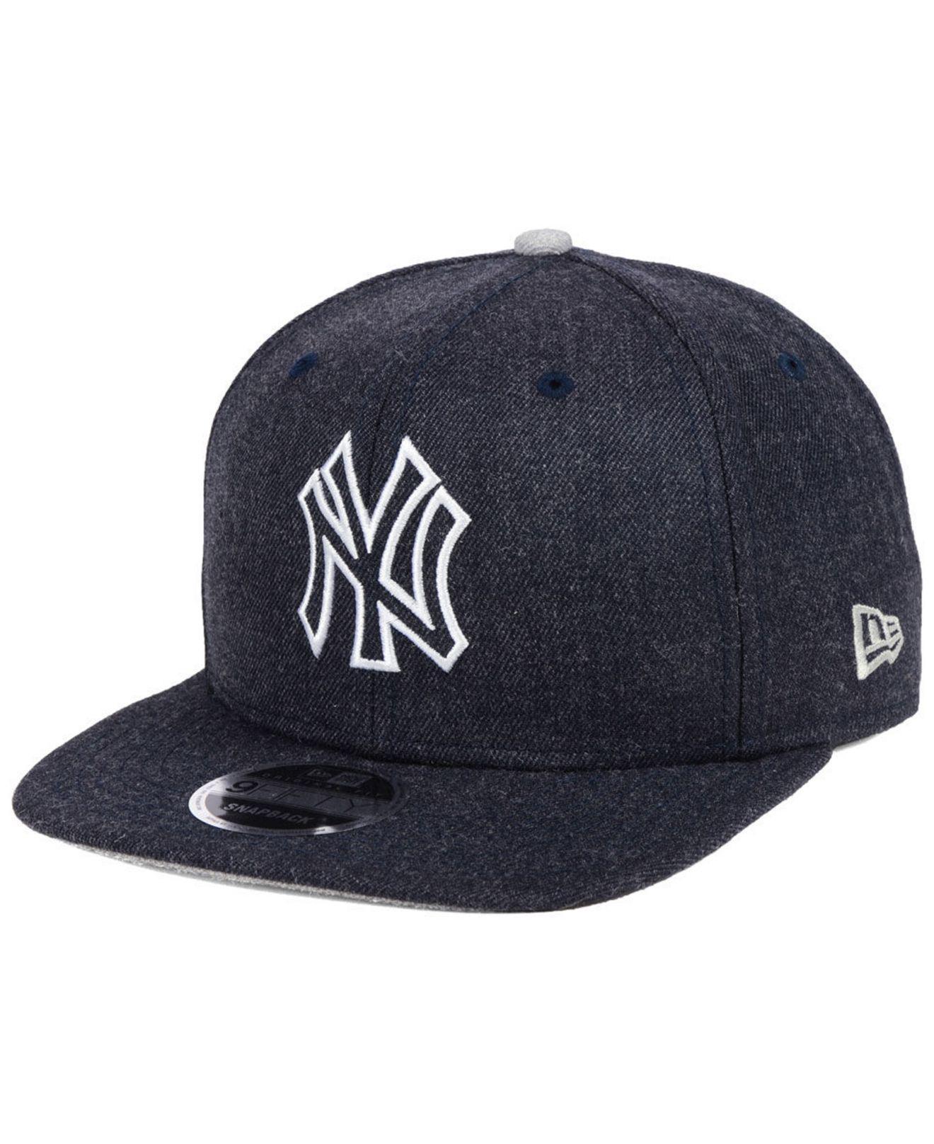 410cdd95743fd ... wholesale ktz. mens blue new york yankees heather hype 9fifty snapback  cap 93071 25618