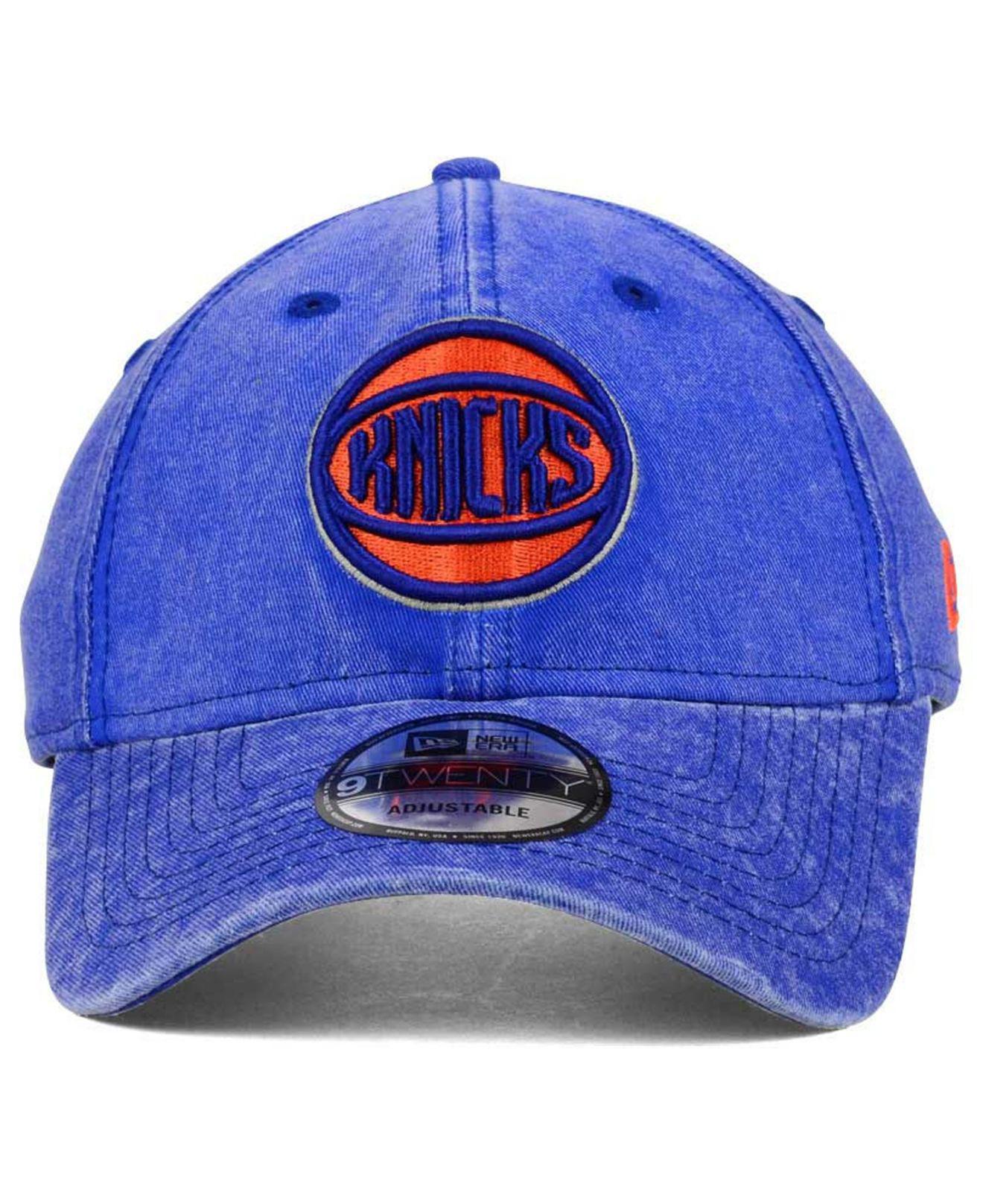 buy popular e32ec 2fea3 ... new arrivals lyst ktz new york knicks italian wash 9twenty dad cap in  blue for men
