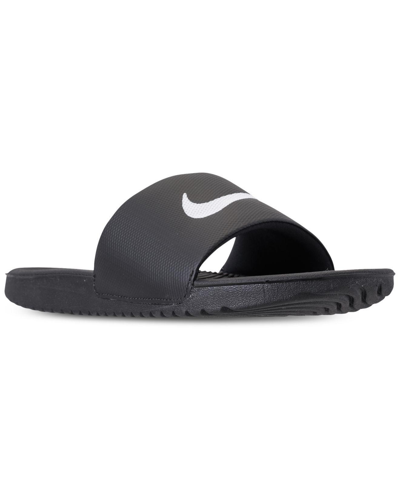 fccf96f56 Lyst - Nike Kawa Slide Sandals From Finish Line in Black for Men