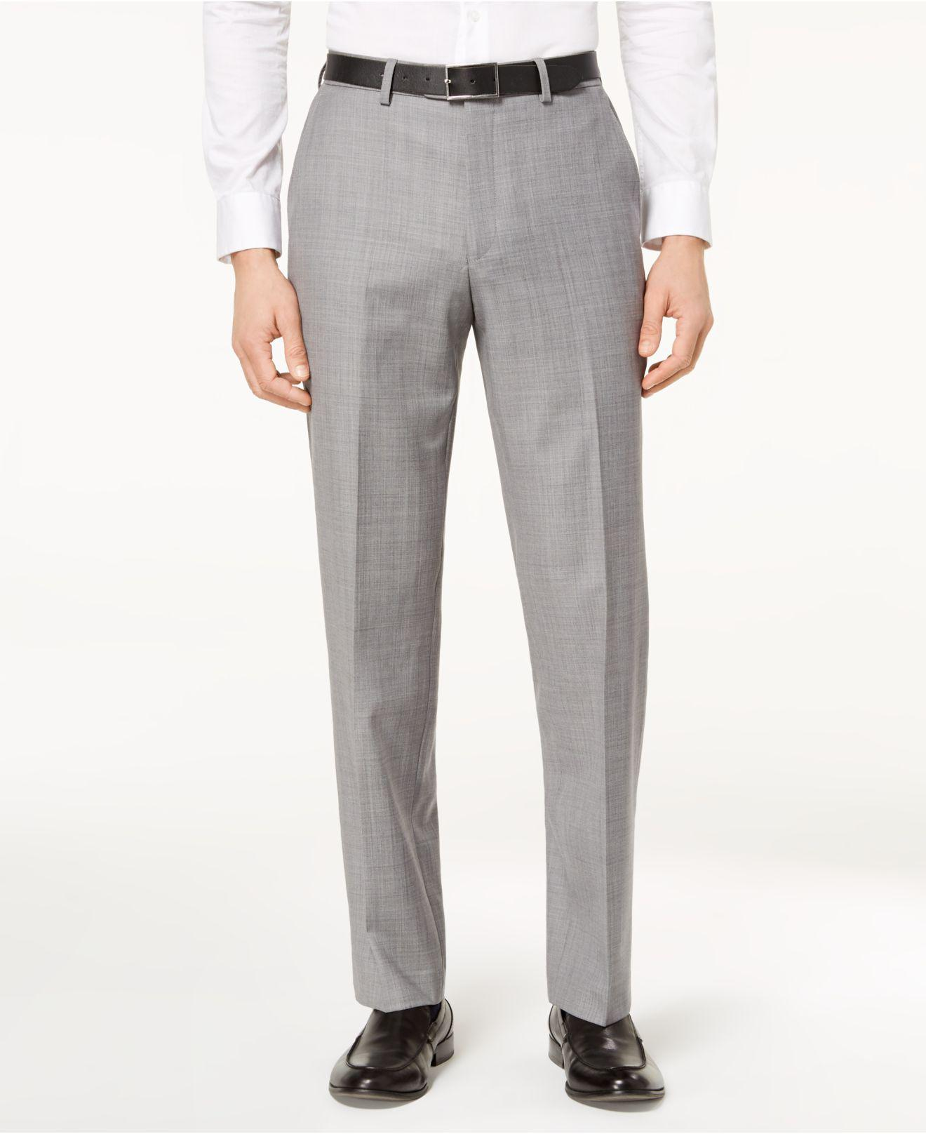 6f5f077cf63e6 Michael Kors. Men s Gray Classic-fit Airsoft Stretch Solid Suit Trousers