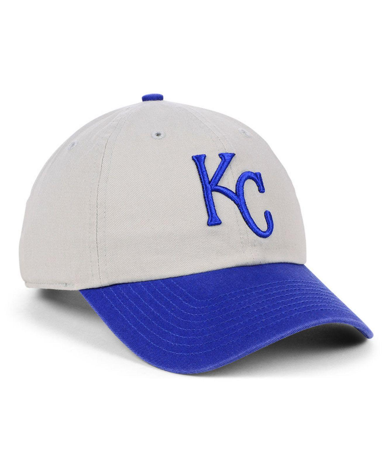 promo code 7558e 9b716 Lyst - 47 Brand Kansas City Royals Gray 2-tone Clean Up Cap for Men