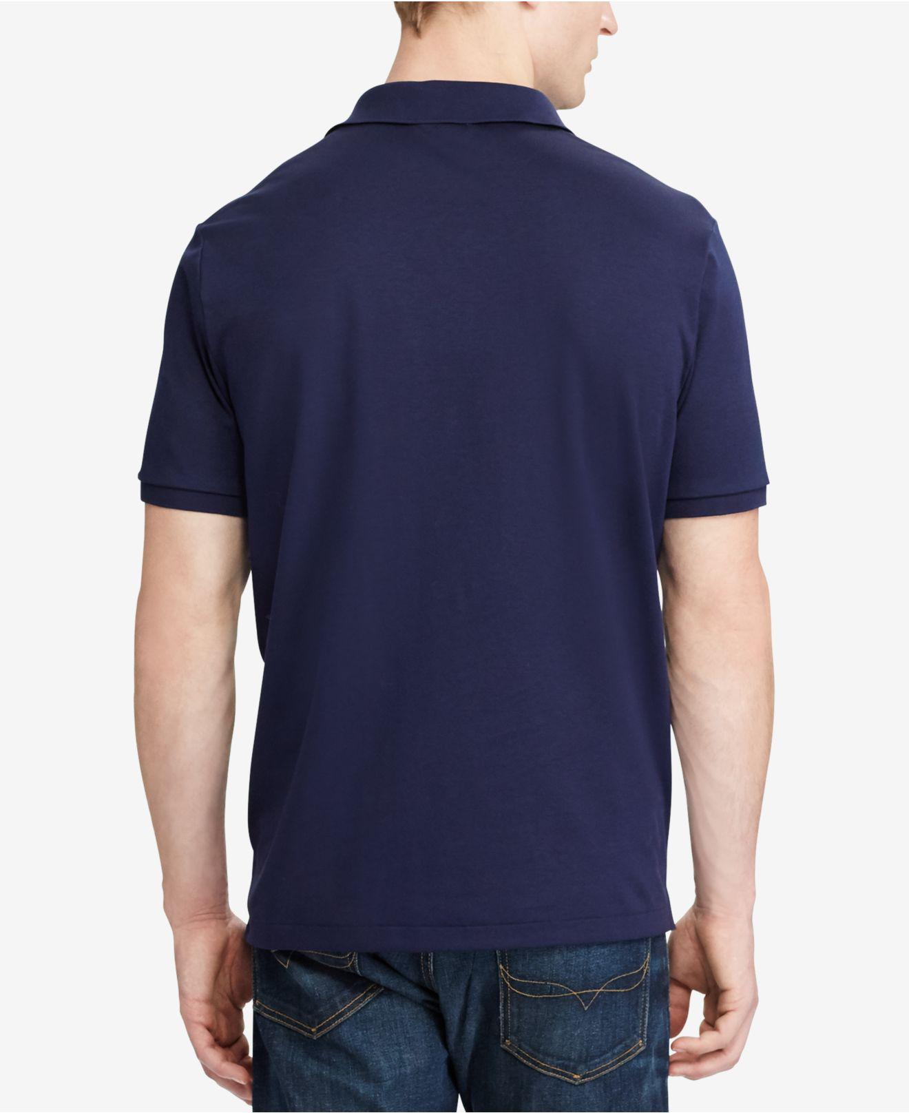 354c8aaae Lyst - Polo Ralph Lauren Custom Slim Fit Soft-touch Polo in Blue for Men