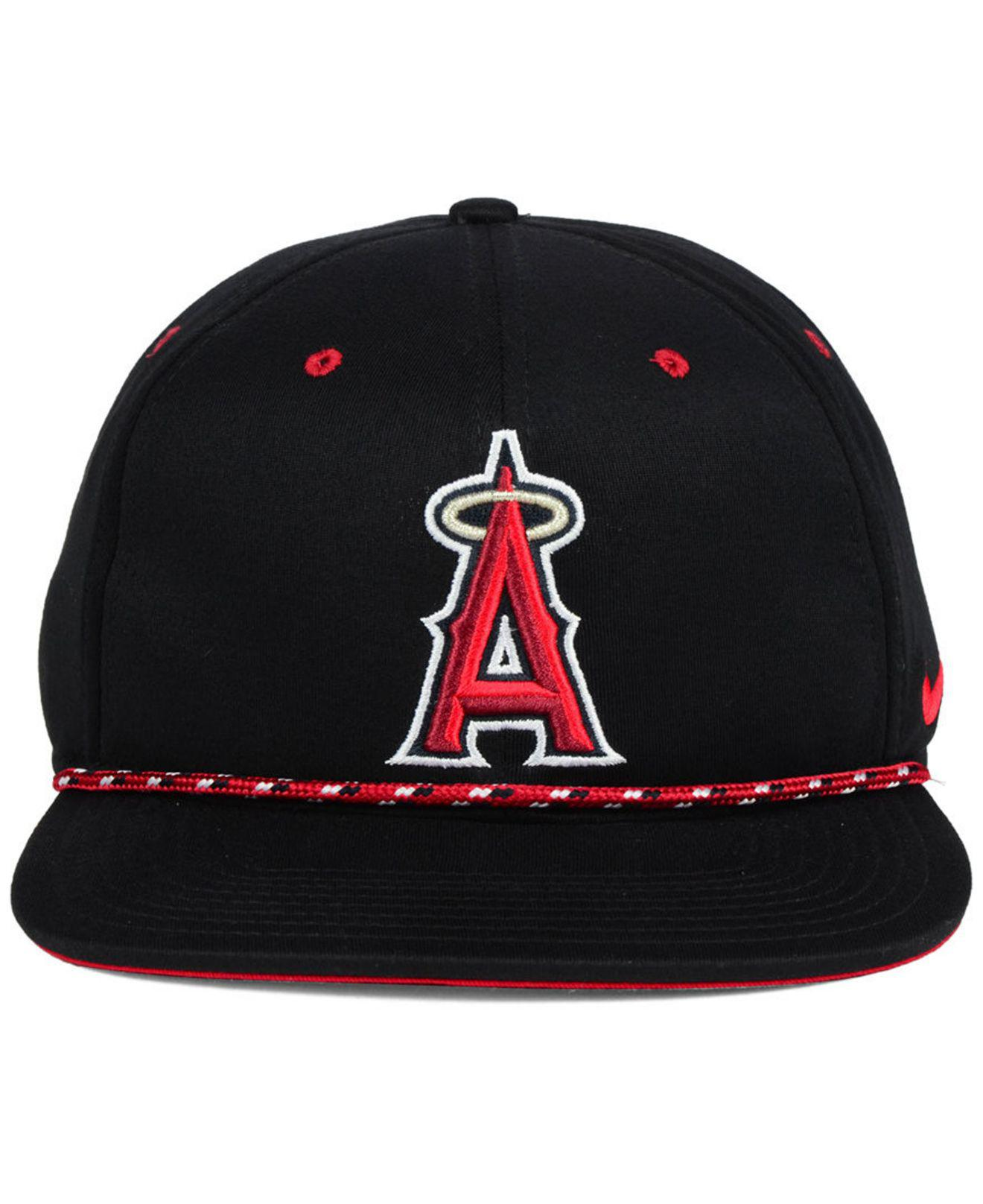 9eee1f8d74c2c ... clearance lyst nike los angeles angels string bill snapback cap in  black for men 57957 2e31b