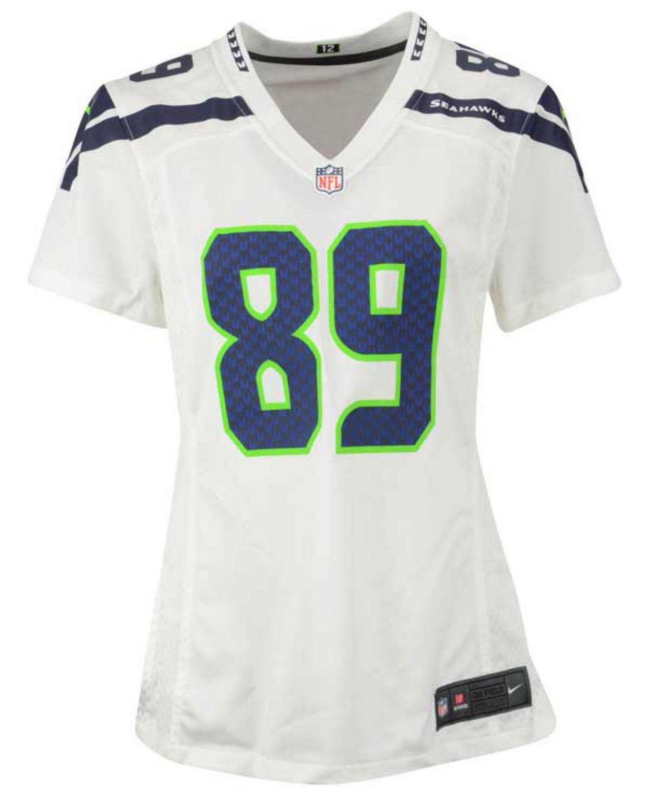 5faa1ab2f6b ... stitched nfl elite split jersey 7b381 99737  new zealand lyst nike  womens doug baldwin seattle seahawks game jersey in white 9411b f6c0a