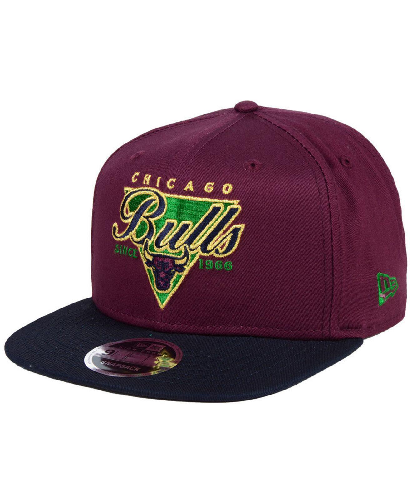 buy popular bf56a 286de KTZ Chicago Bulls 90s Throwback 9fifty Snapback Cap in Purple for ...