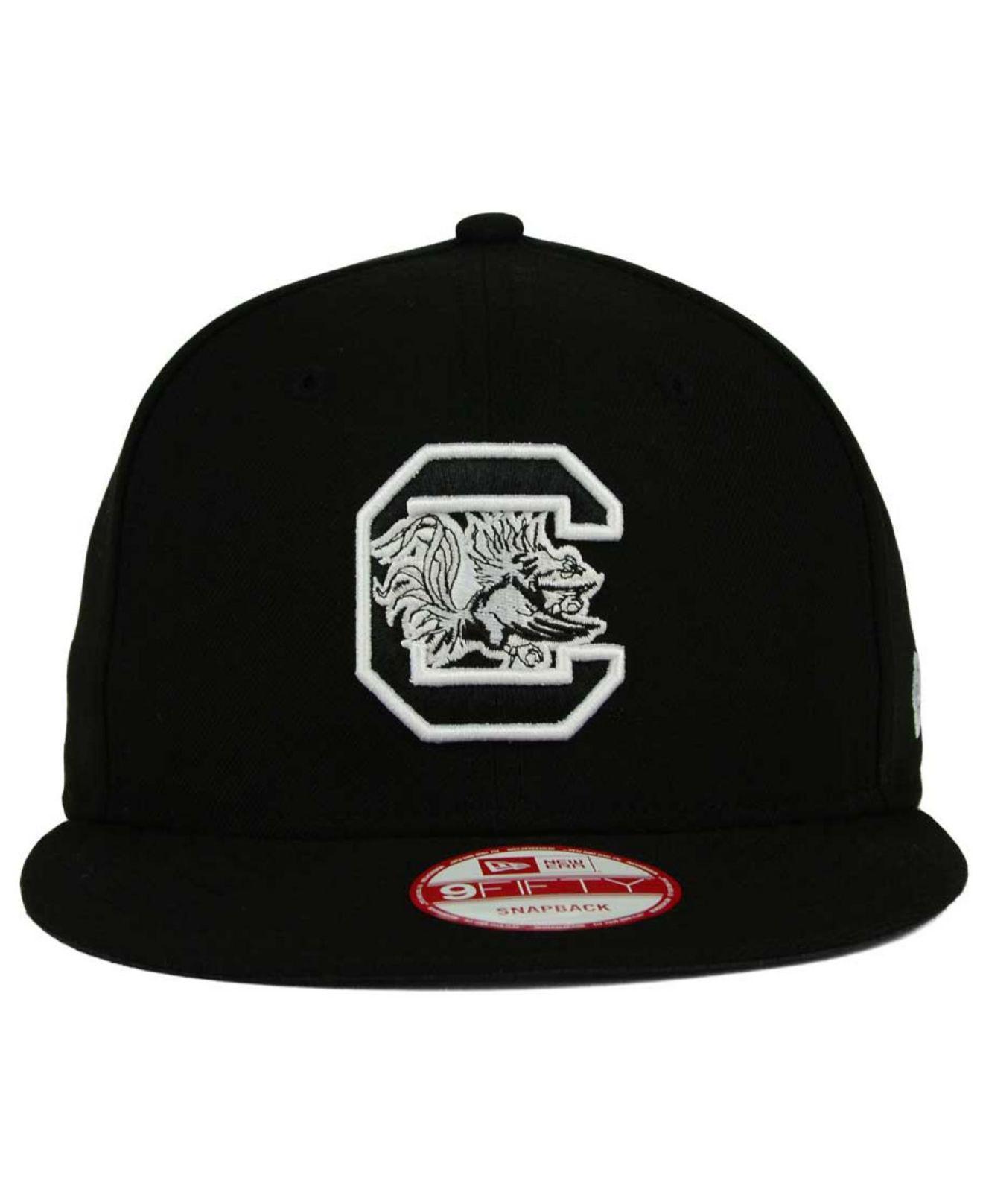quality design bafdd 71e05 Lyst - KTZ South Carolina Gamecocks Ncaa Black White Fashion 9fifty  Snapback Cap in Black for Men