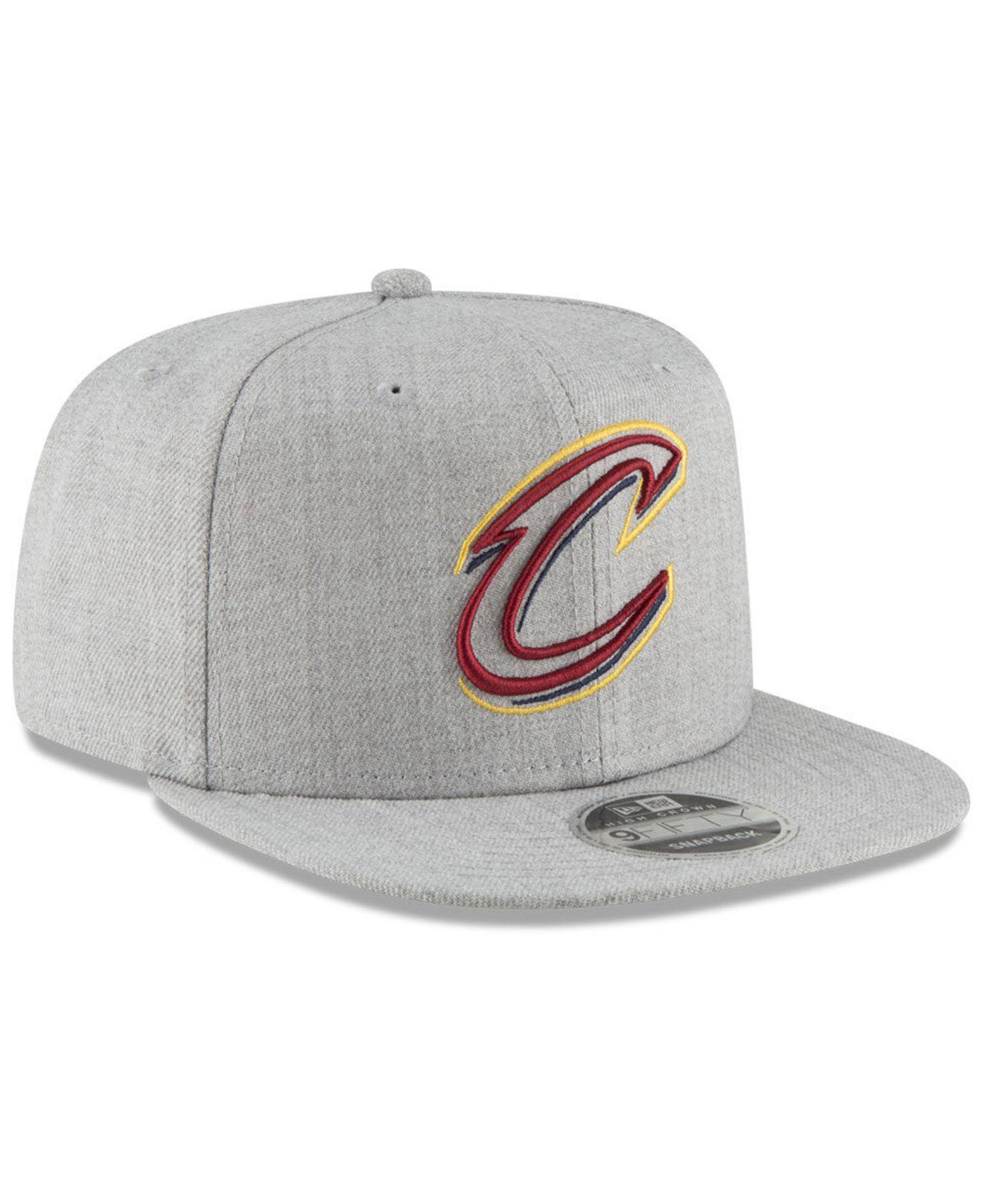 on sale 4e15e 2005f KTZ - Gray Cleveland Cavaliers Logo Trace 9fifty Snapback Cap for Men - Lyst.  View fullscreen