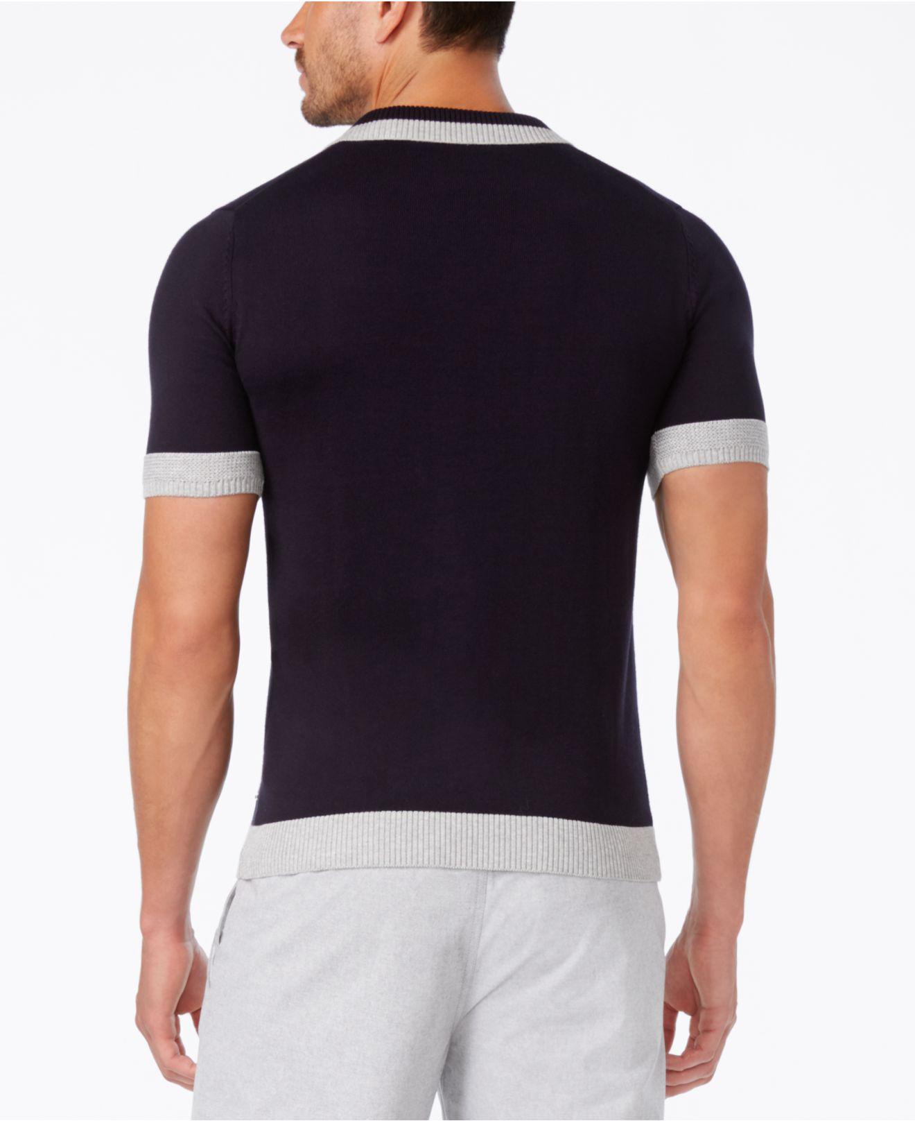 Lyst Sean John Mens Colorblocked Polo Sweater In Black For Men