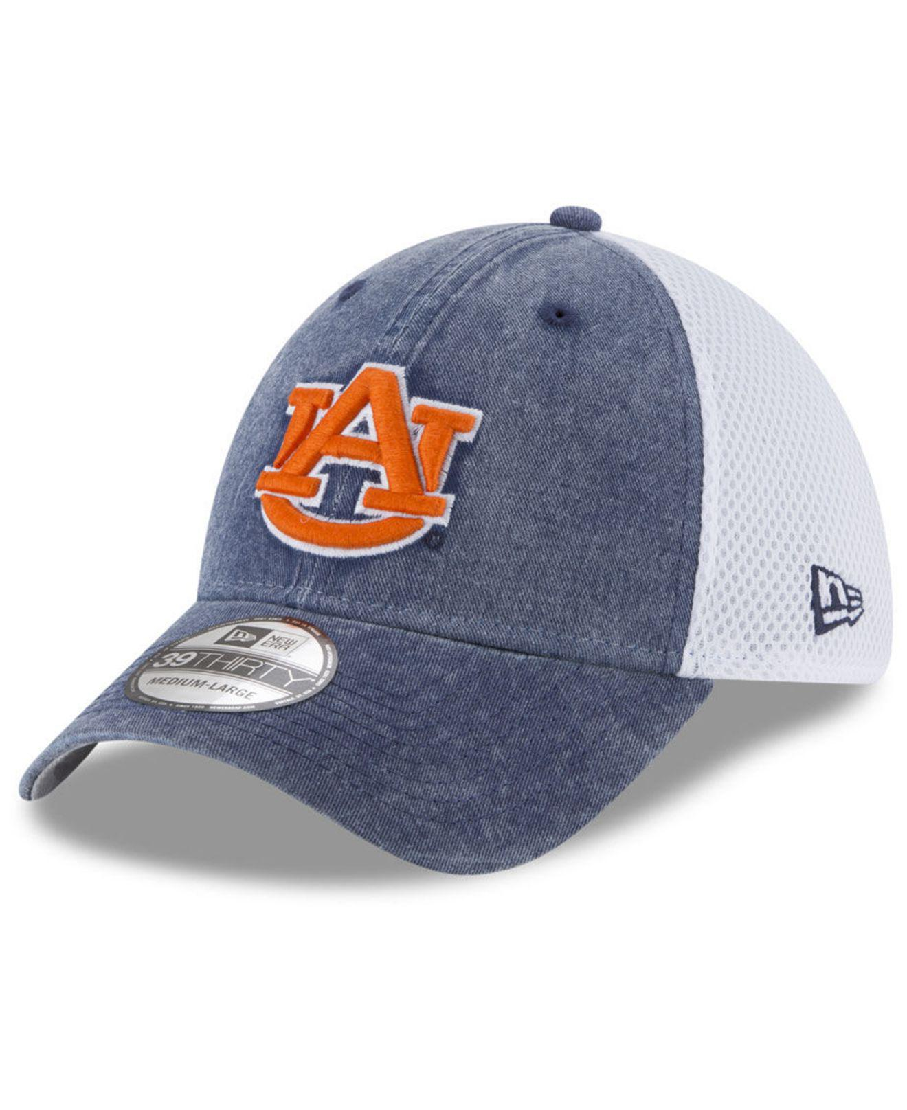 online store 41e48 2ca6b KTZ Auburn Tigers Washed Neo 39thirty Cap in Blue for Men - Lyst