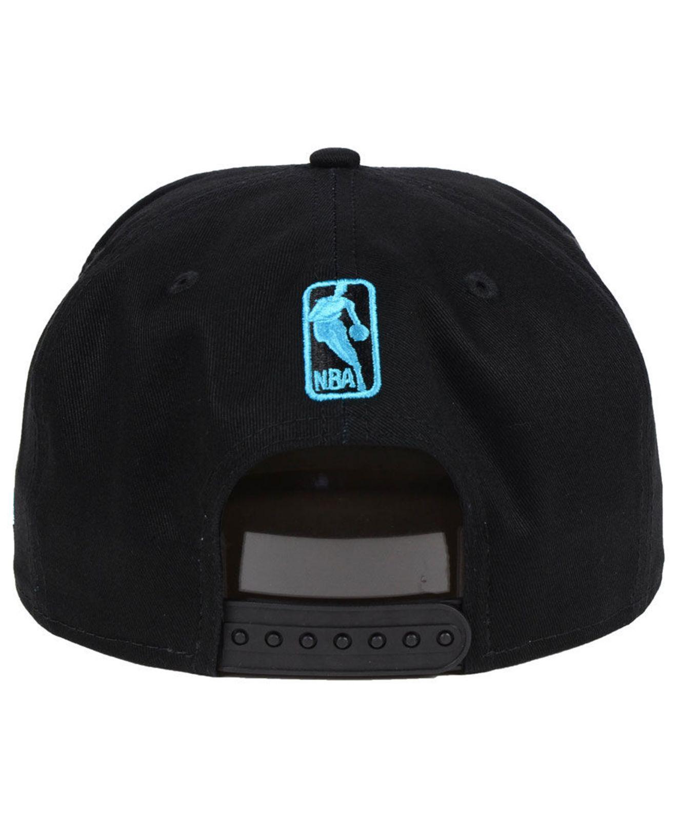 cheap for discount 1517e 86333 ... ebay lyst ktz charlotte hornets retro arch 9fifty snapback cap in black  27a02 9ac6f