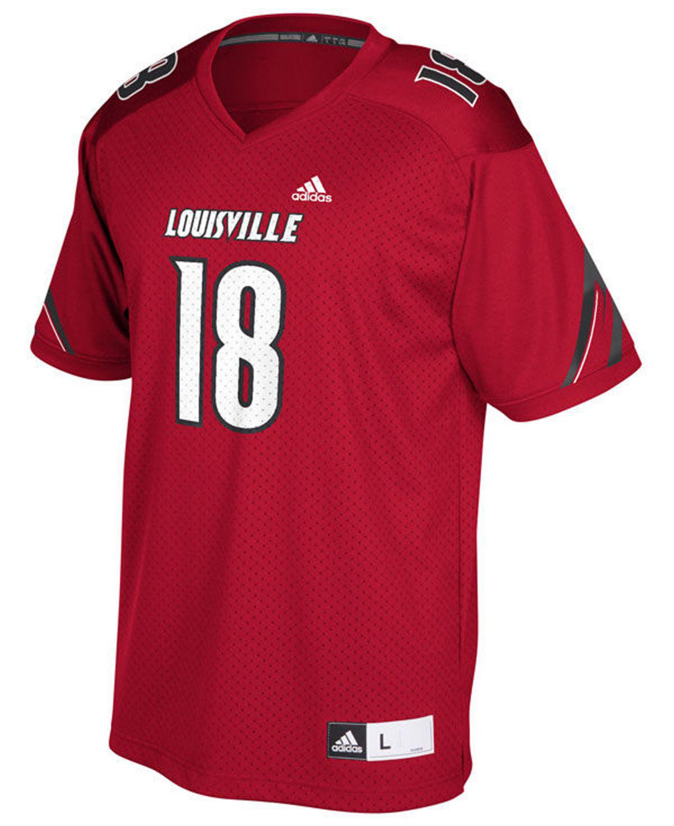 11ab03207 Lyst - adidas Louisville Cardinals Replica Football Jersey in Red for Men