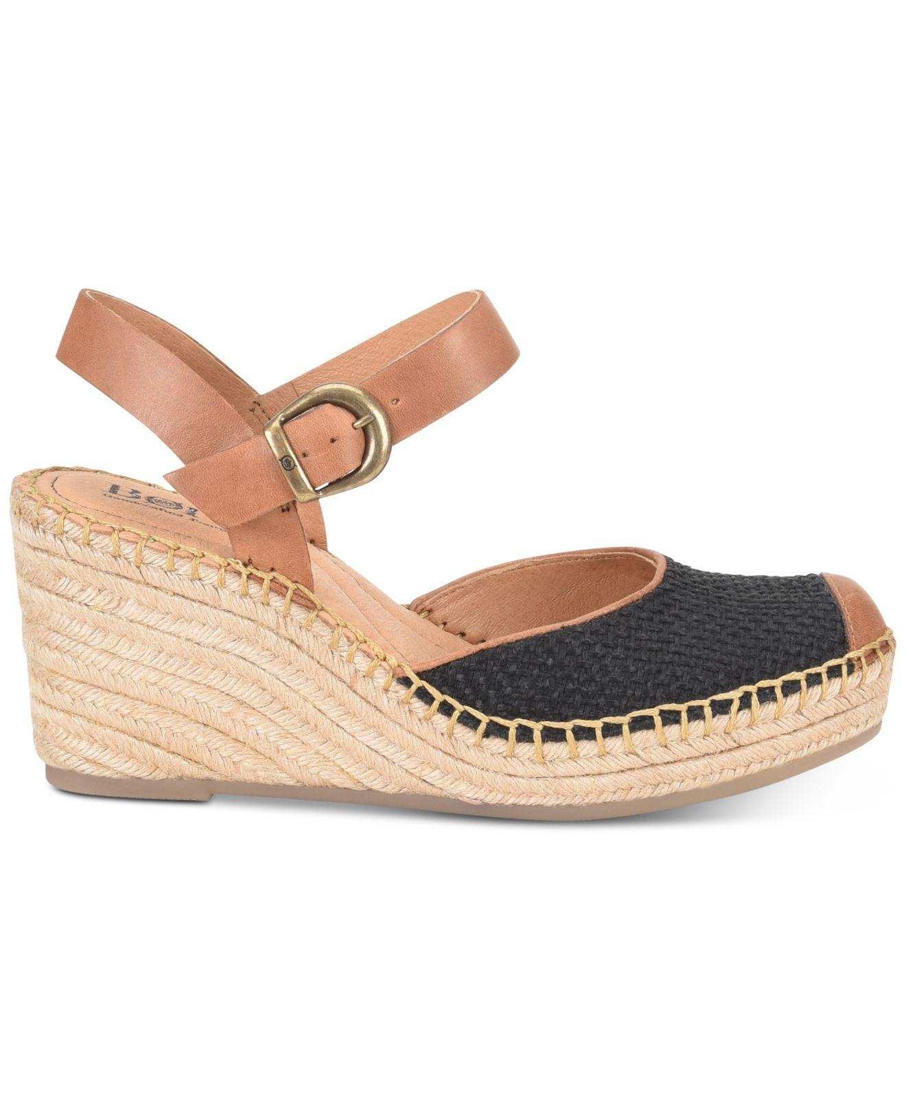 78d942097ab7 Lyst - Born Guadalupe Wedge Sandals in Black