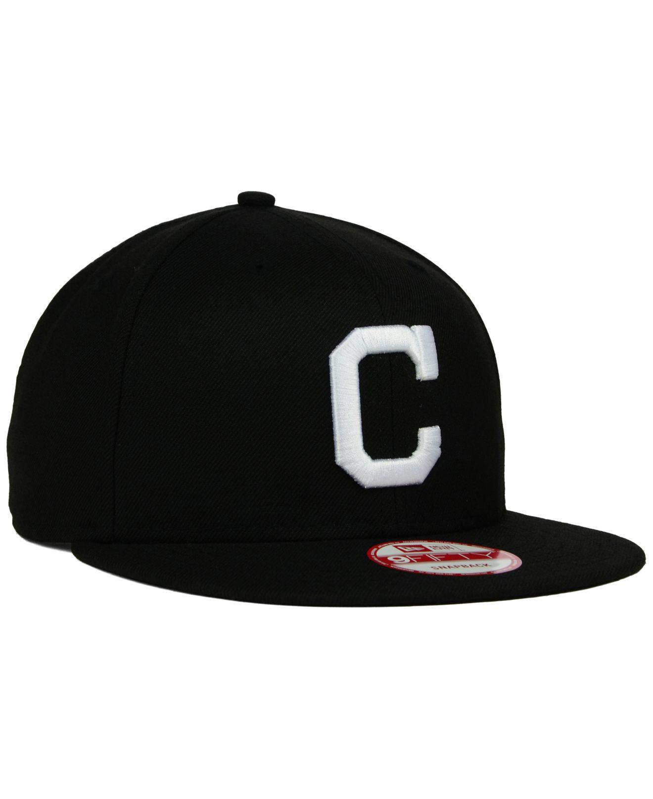 new product e355f dff5e ... closeout cleveland indians b dub 9fifty snapback cap for men lyst. view  fullscreen a0031 6f0f9