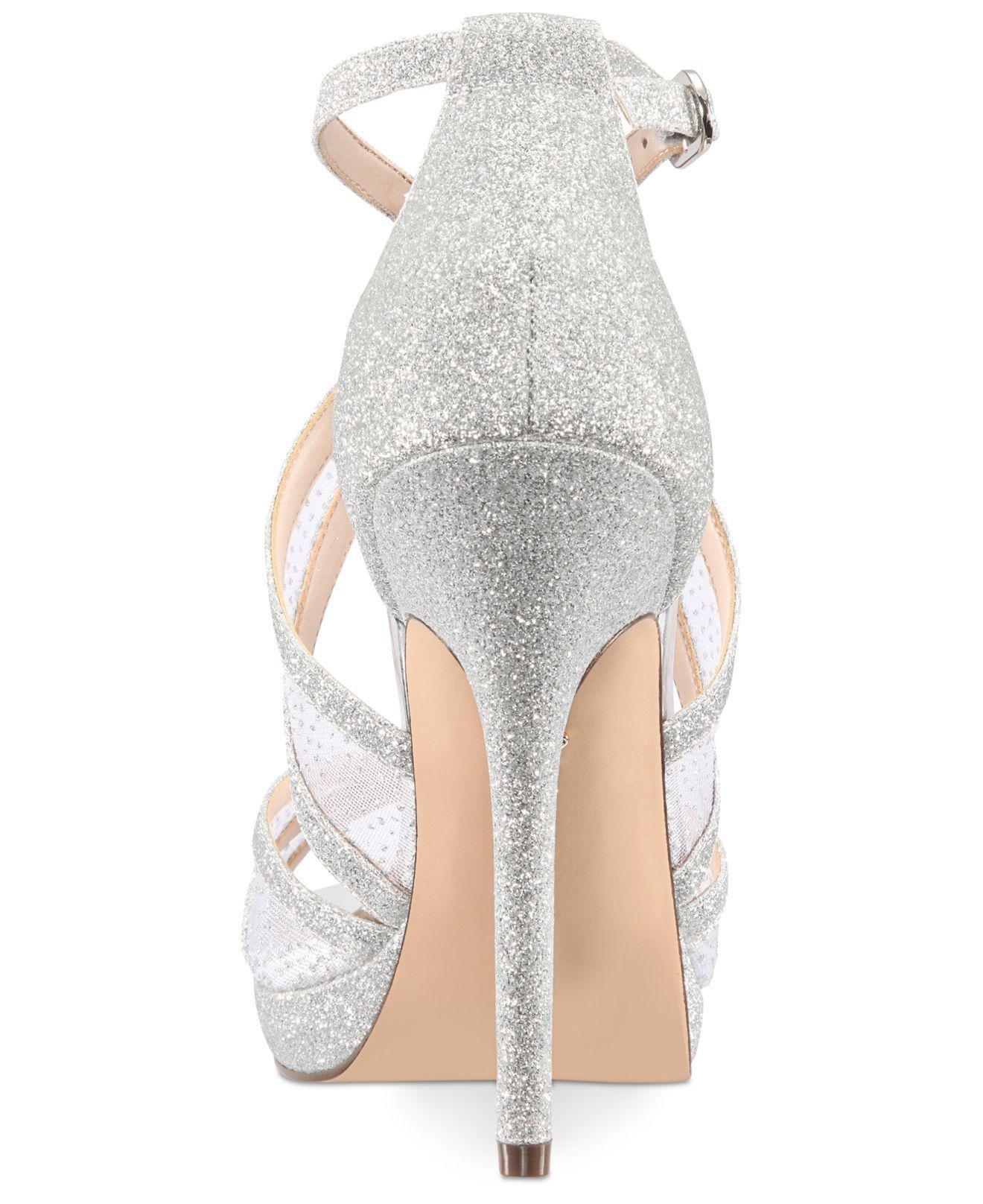 20dd644a4aba Nina - Metallic Fenna Platform Evening Sandals - Lyst. View fullscreen