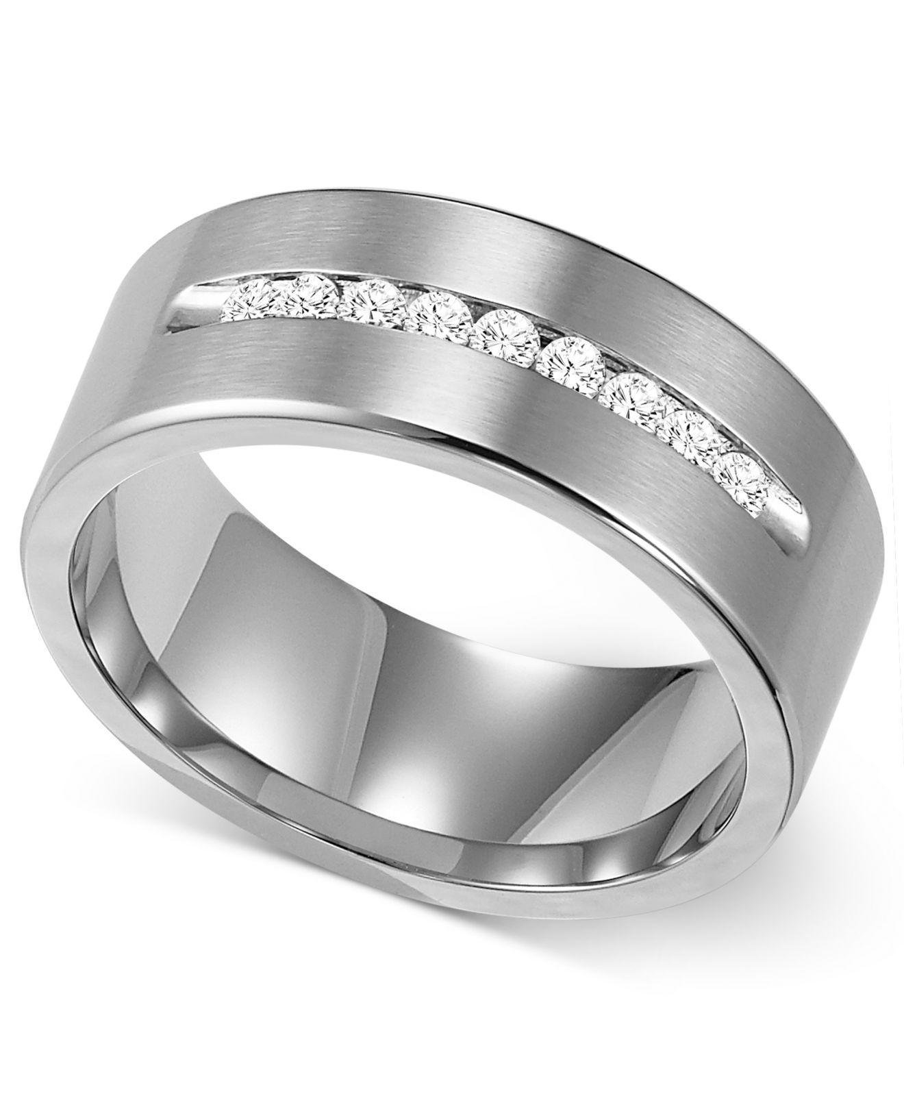b66796c2509613 Lyst - Triton Men's Channel-set Diamond Wedding Band In Cobalt (1/4 ...