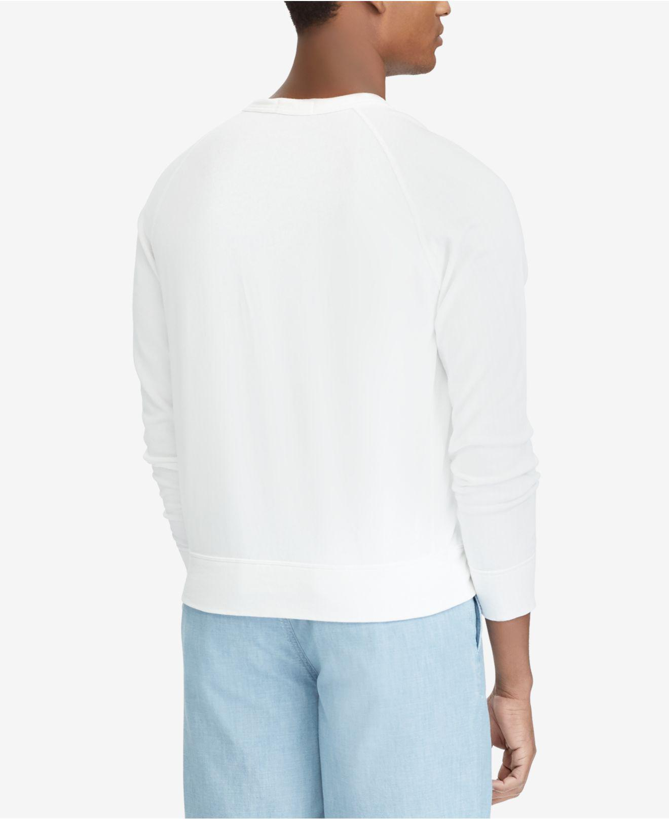 4fecb90c2d99 Lyst - Polo Ralph Lauren Spa Terry Sweatshirt in White for Men - Save 28%