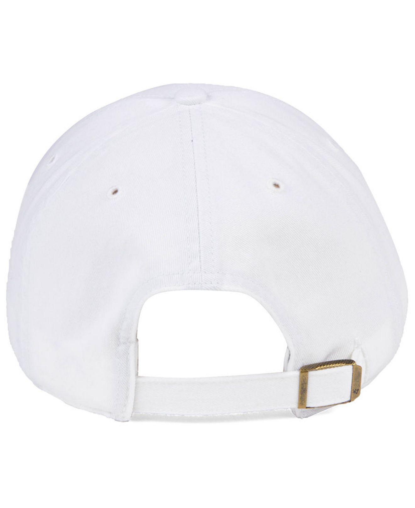 c96fe1fd7b13b Lyst - 47 Brand Pittsburgh Pirates White white Clean Up Cap in White ...