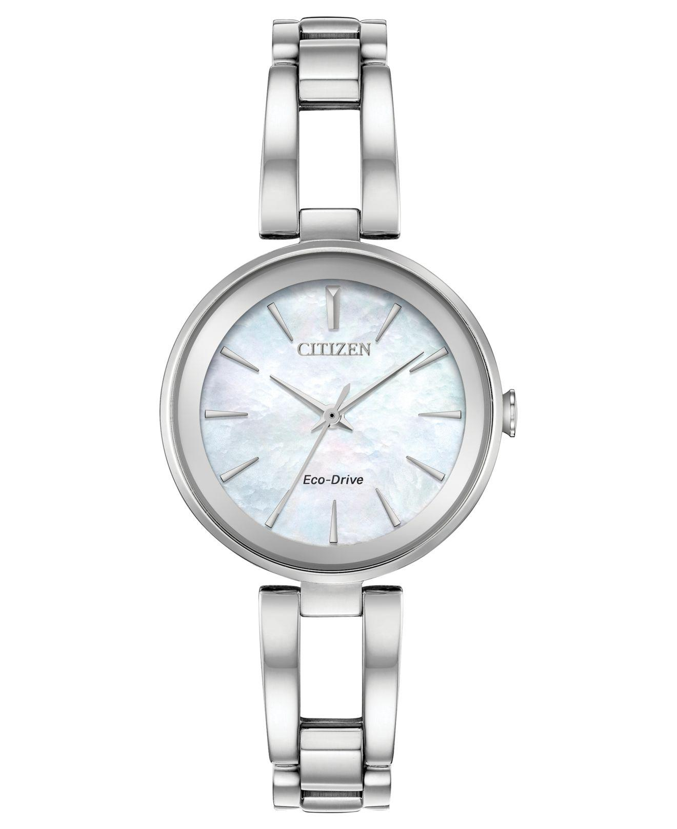 Lyst - Citizen Women s Eco-drive Axiom Stainless Steel Bracelet ... fcd8bed6c7