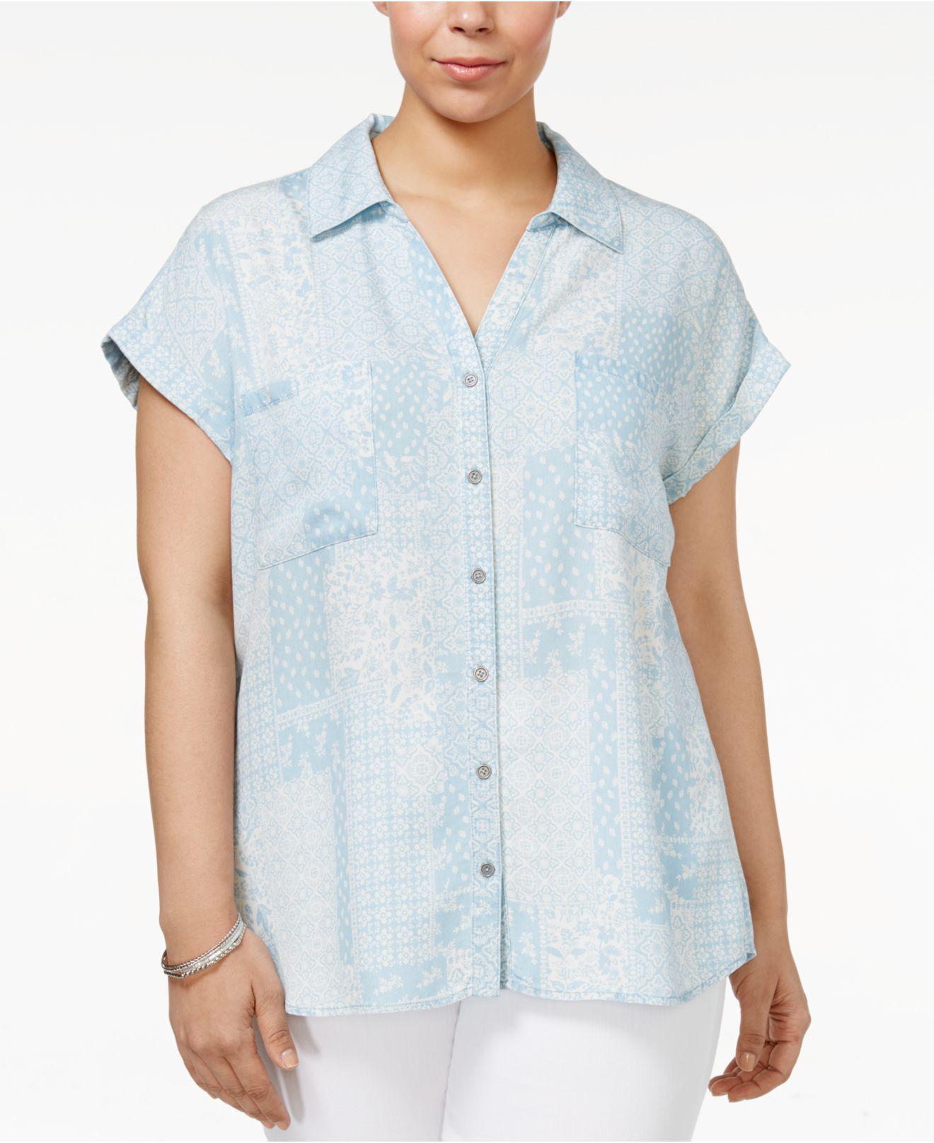 b4cc4af534 Short Sleeve Denim Shirt Plus Size - Data Dynamic AG