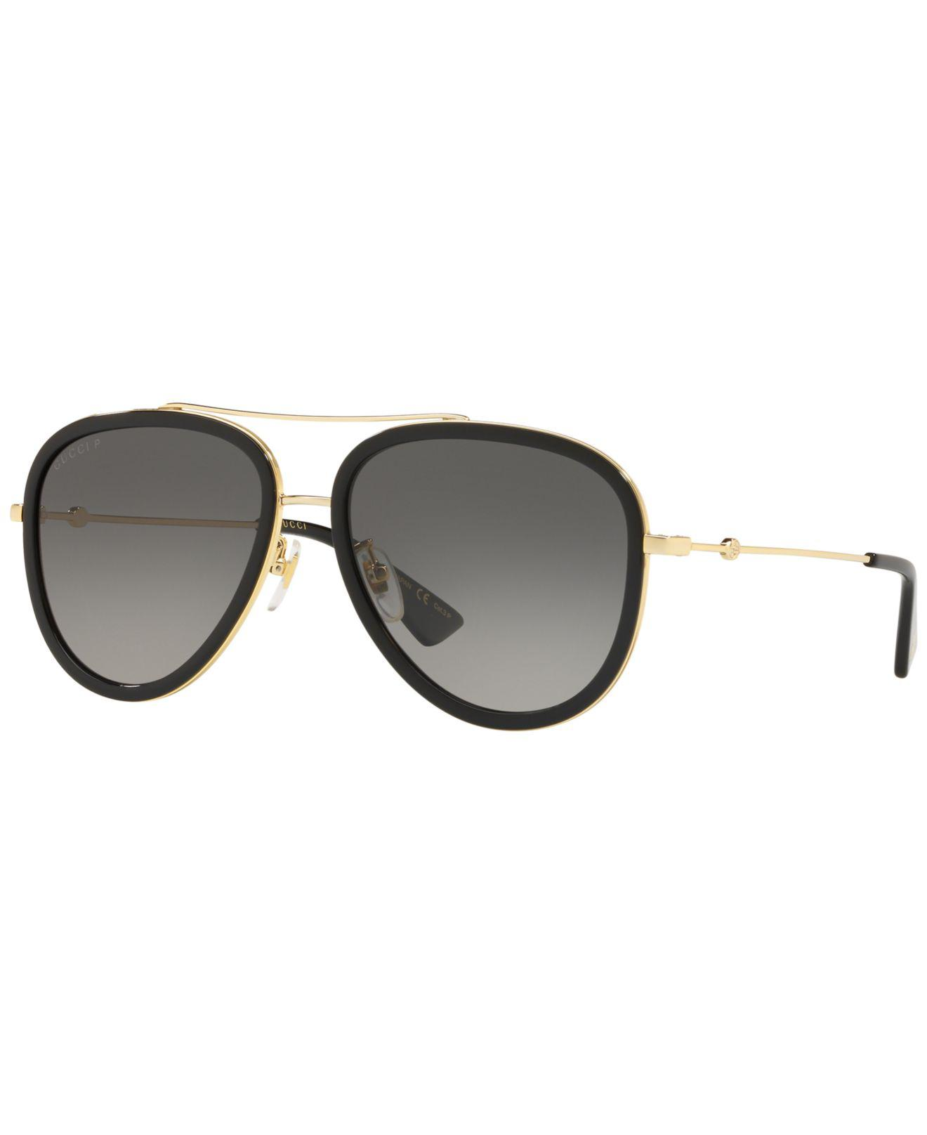 5e983bebf367c Gucci. Women s Metal   Acetate Gradient Aviator Sunglasses Gold black